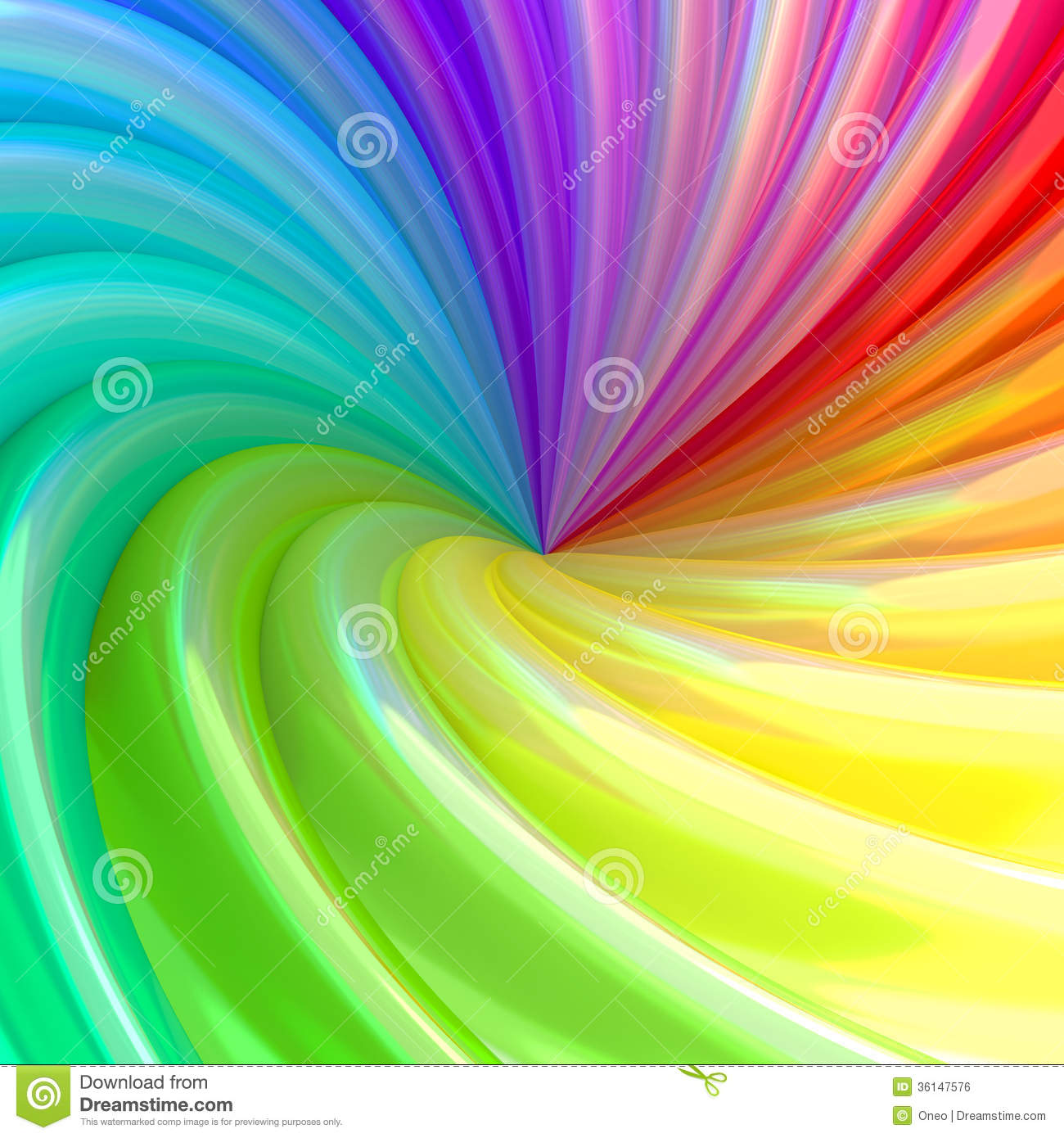 Abstract Background Of Colorful Swirl Pipes Stock