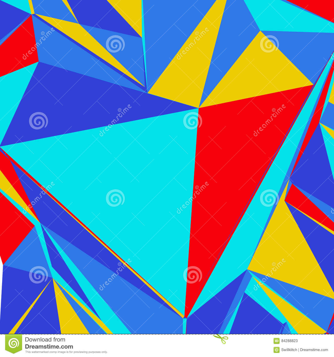 Abstract Background With Colorful Triangles For Magazines, Bookl ...