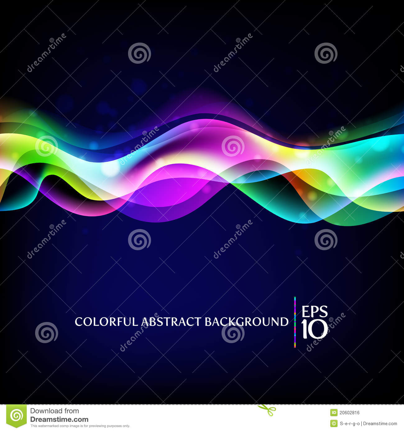 Abstract background - colorful waves