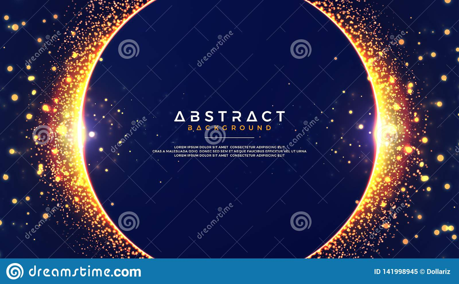 Abstract background with a combination of blur bokeh effects. Abstract Glowing particle circle background. Eps10 vector