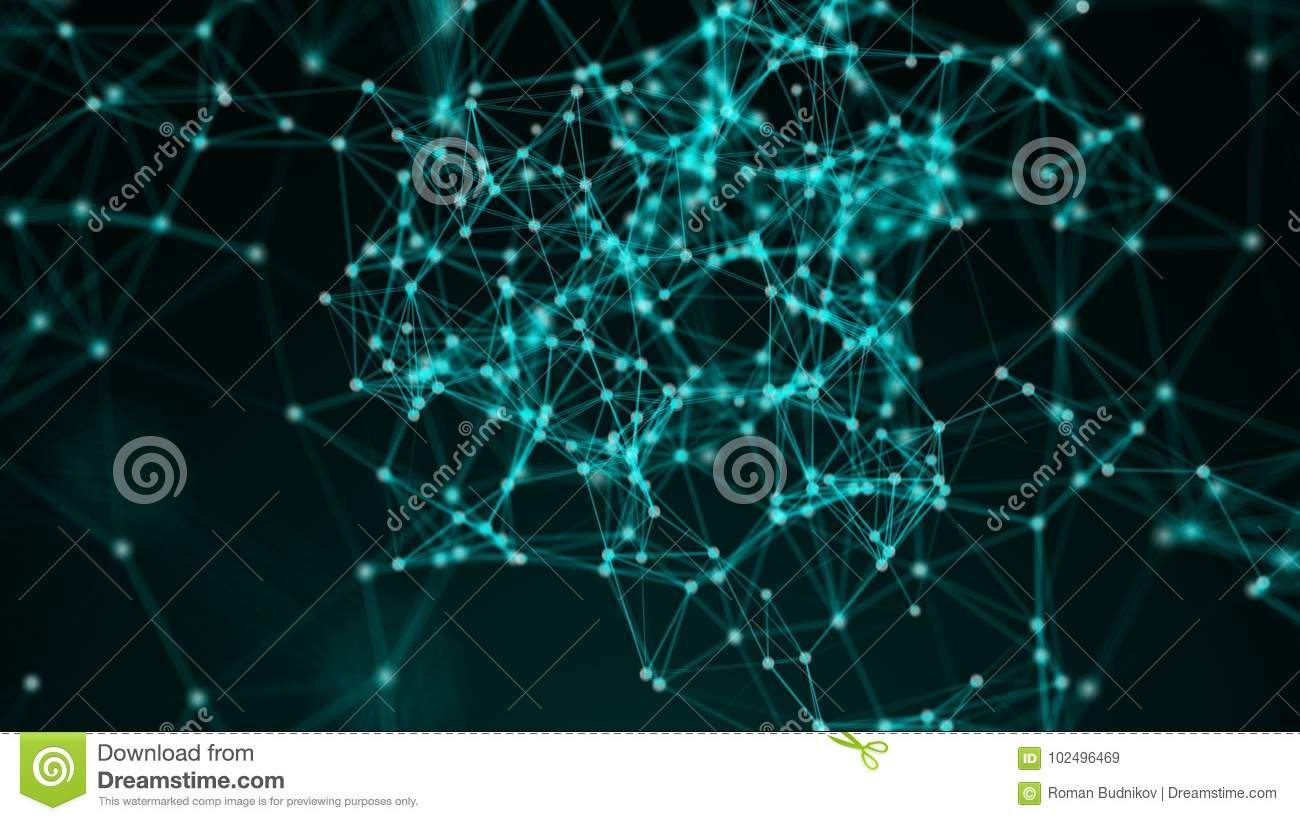 Abstract background with connection dots