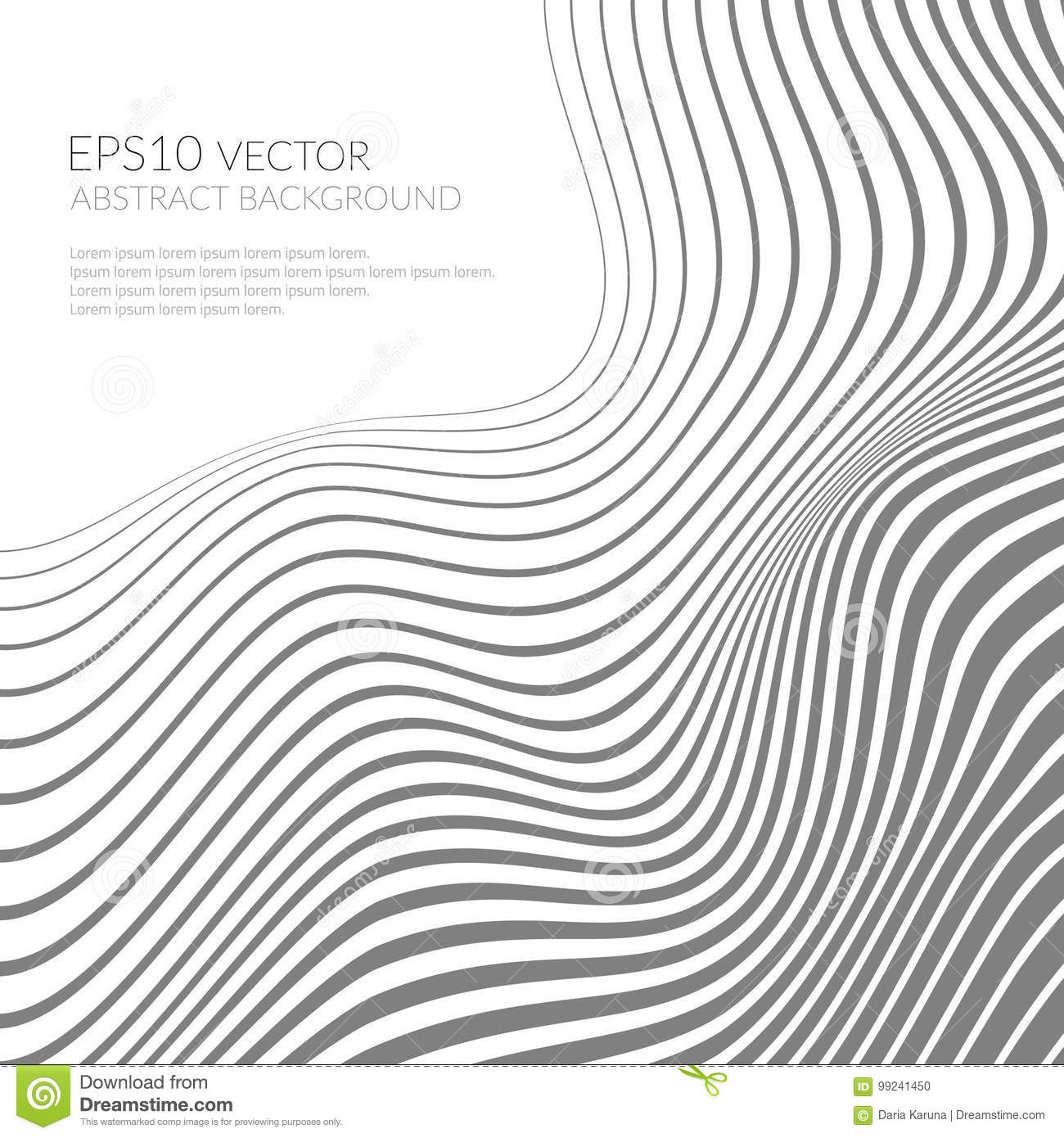 Abstract Background With Curved Lines And Shapes Distortion
