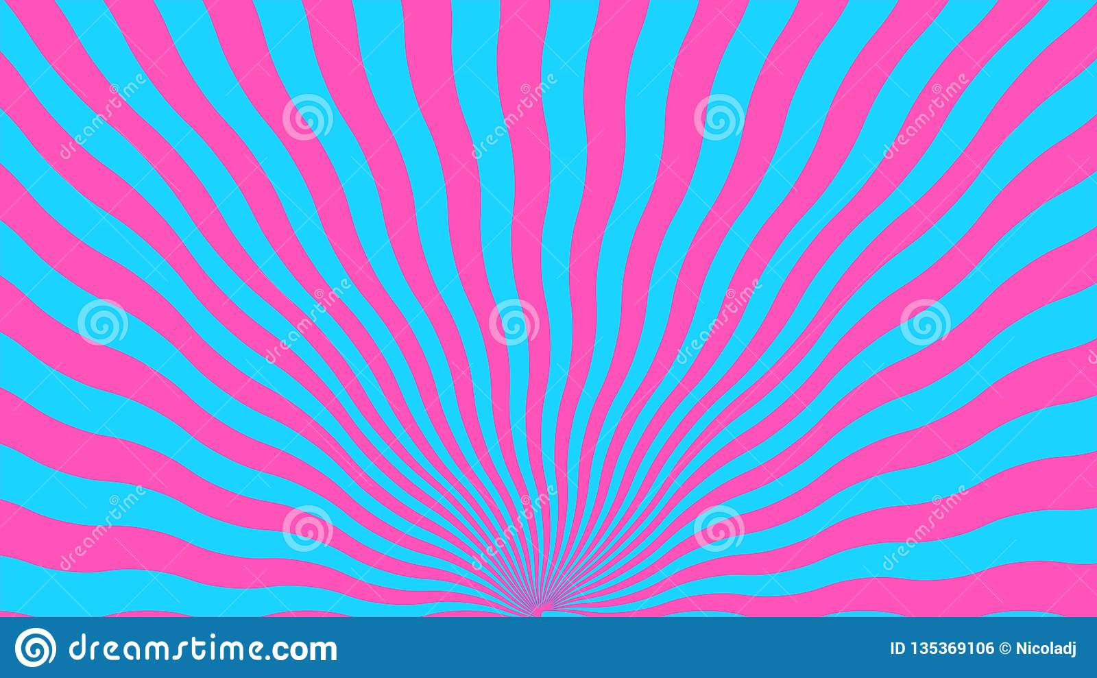 Abstract background from curved pink and blue lines