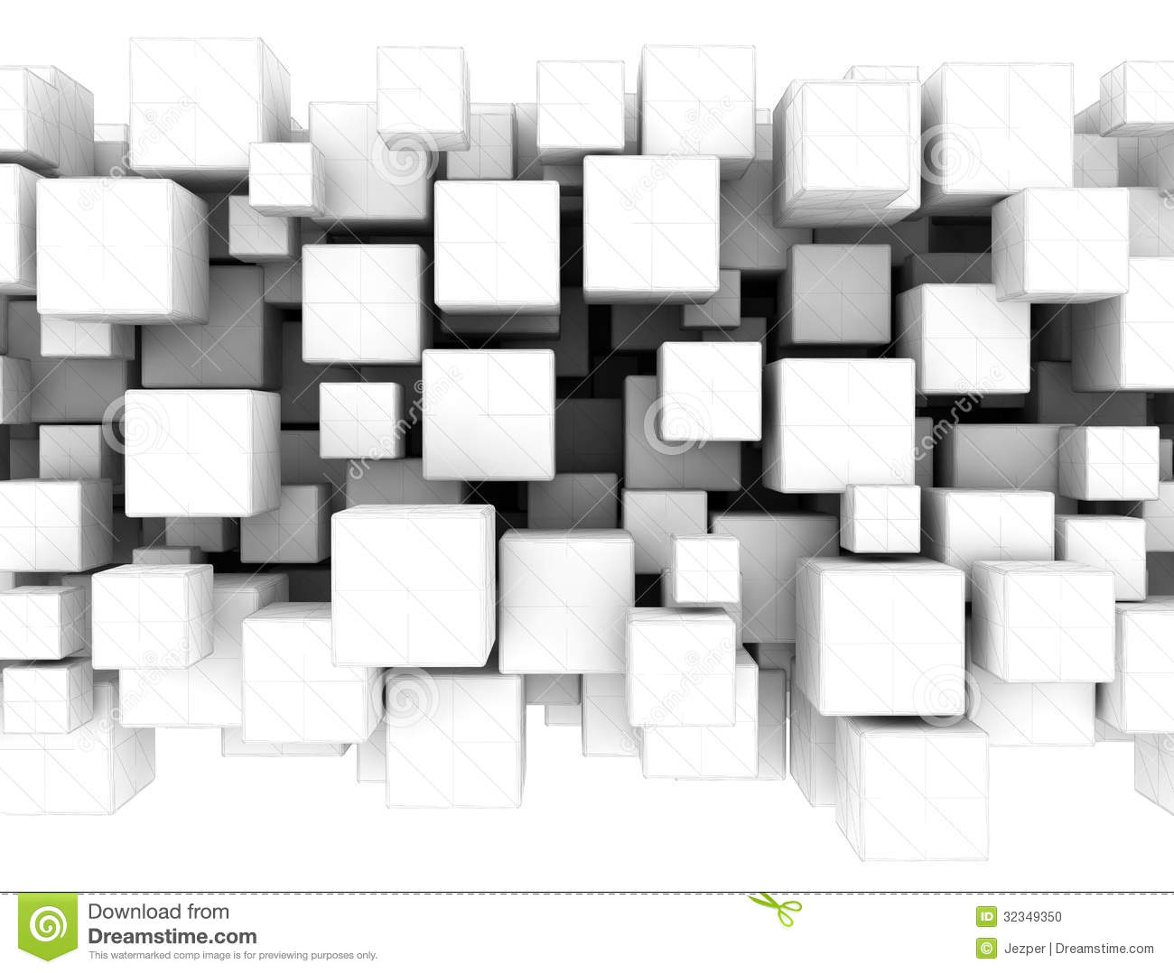 3d abstract cubes background - photo #47