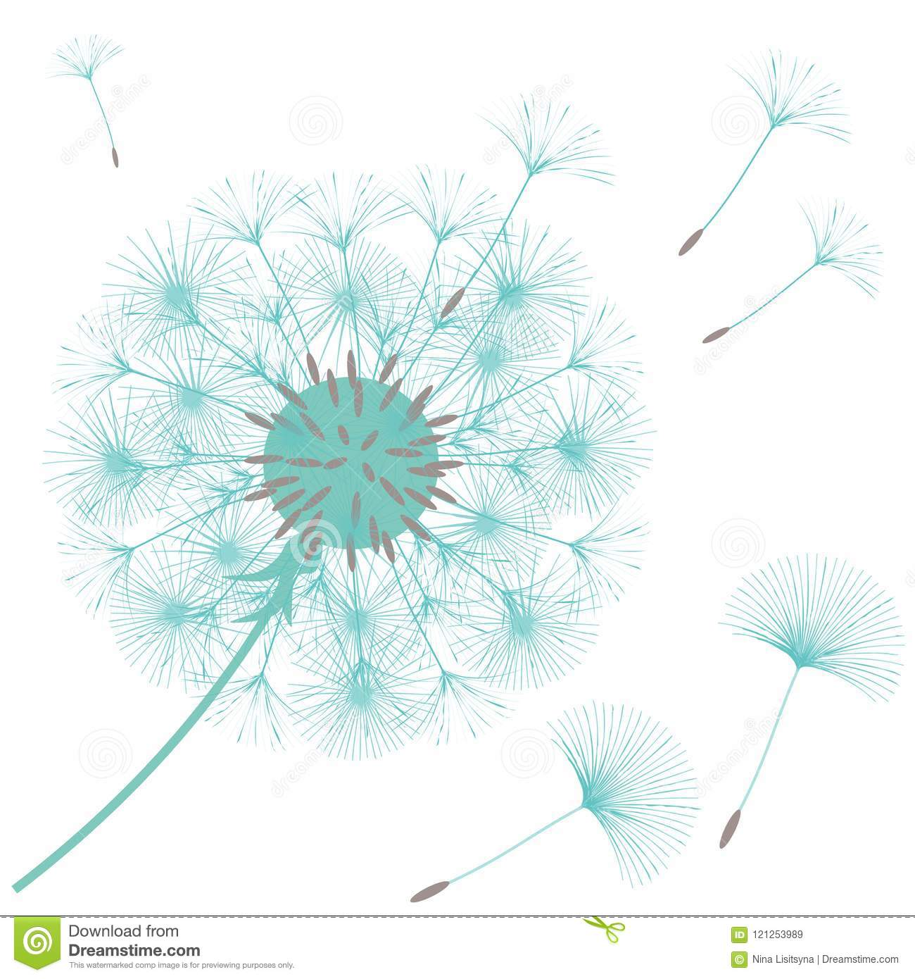 abstract background of a dandelion for design stock vector