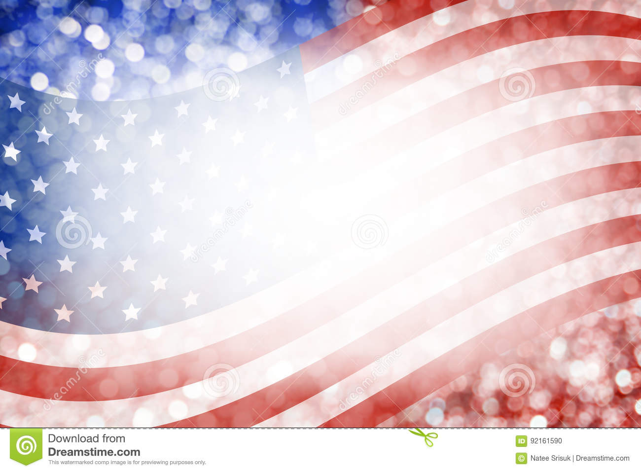 Abstract Background Design Of American Flag And Bokeh For July - Bokeh us map