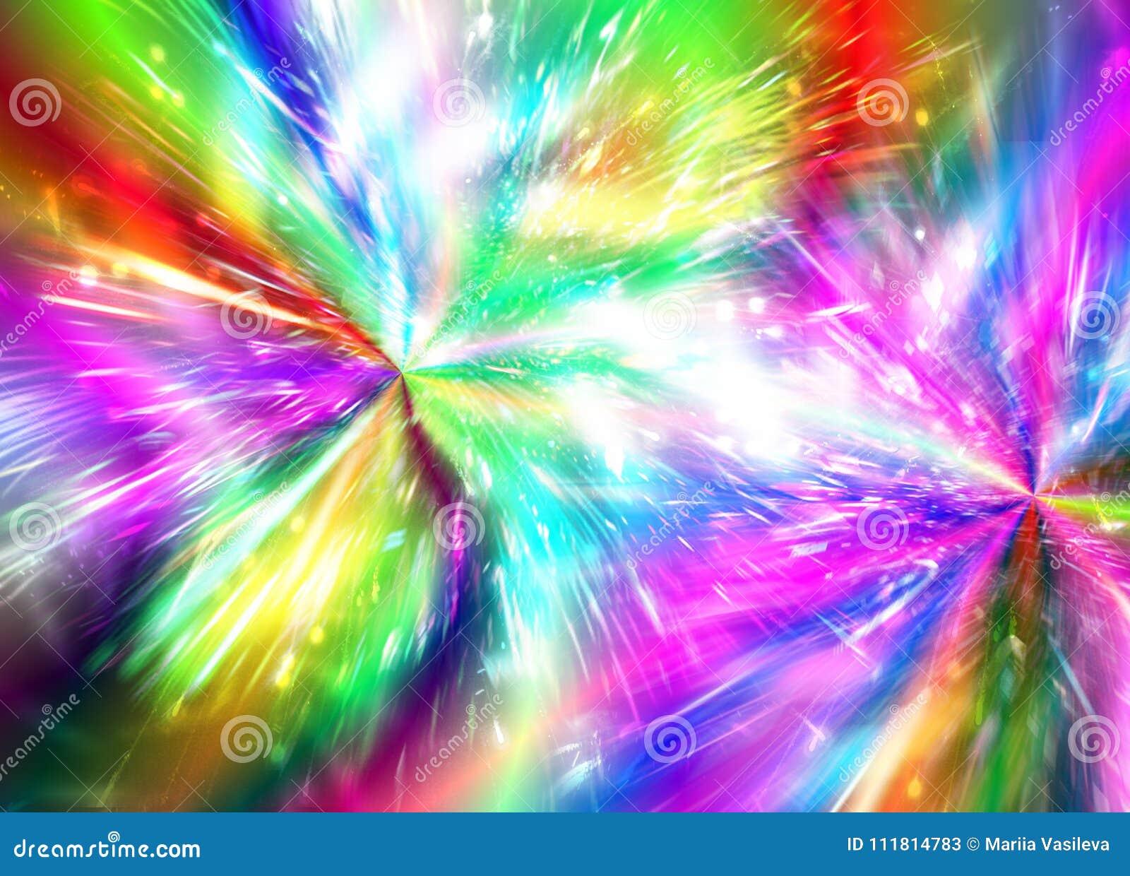 Rainbow Fireworks Celebration Colorful Abstract Image With: Abstract Rainbow Background Fireworks, Fireworks, Holiday
