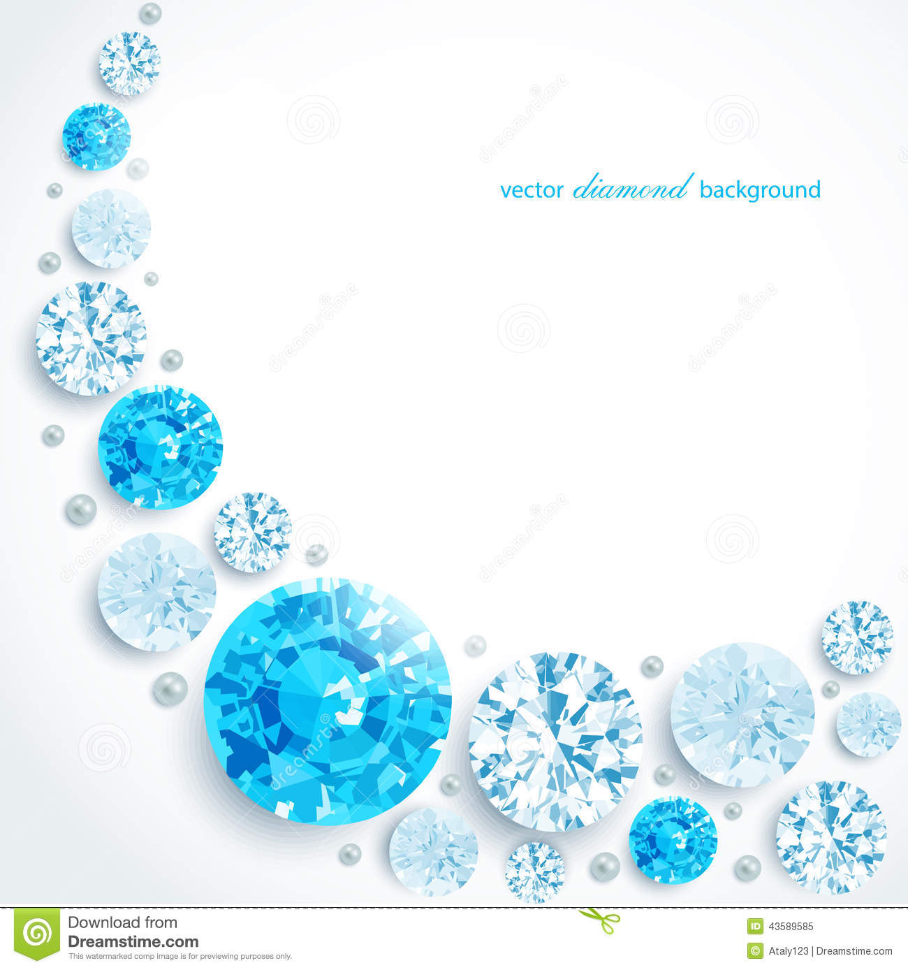 abstract background diamonds and pearls stock vector illustration