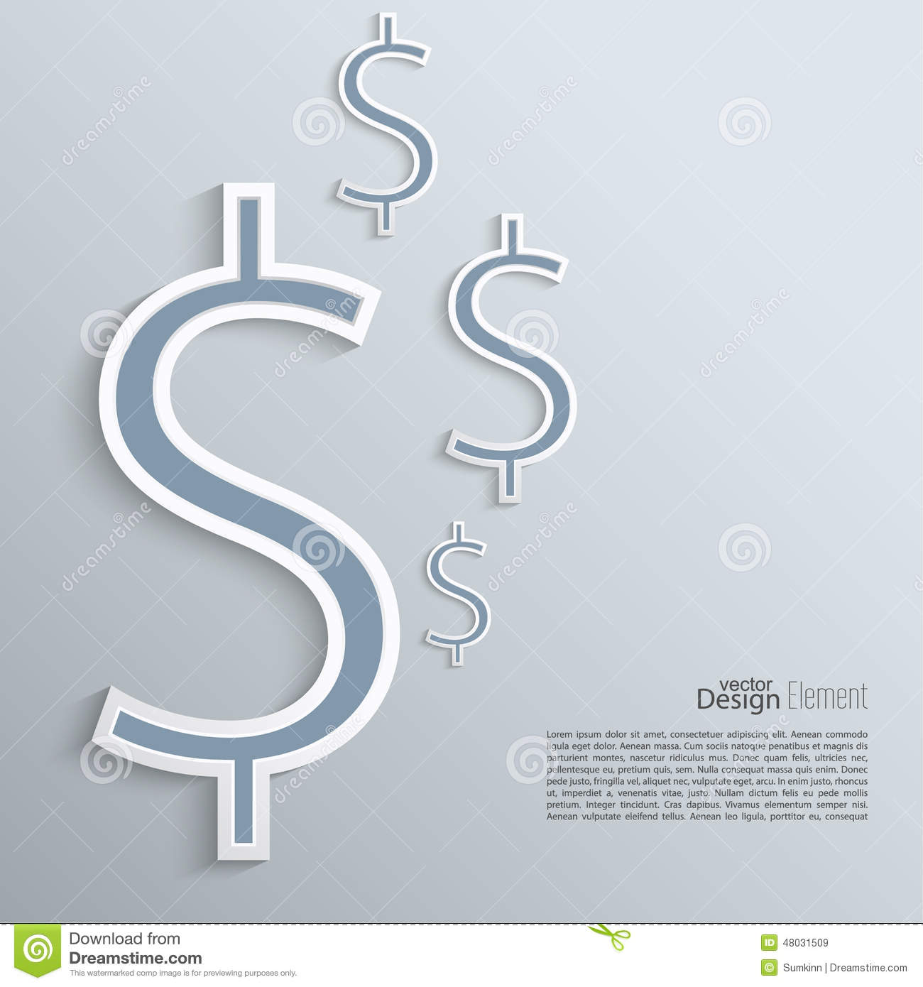 Abstract Background With A Dollar Sign. Stock Vector - Illustration ...
