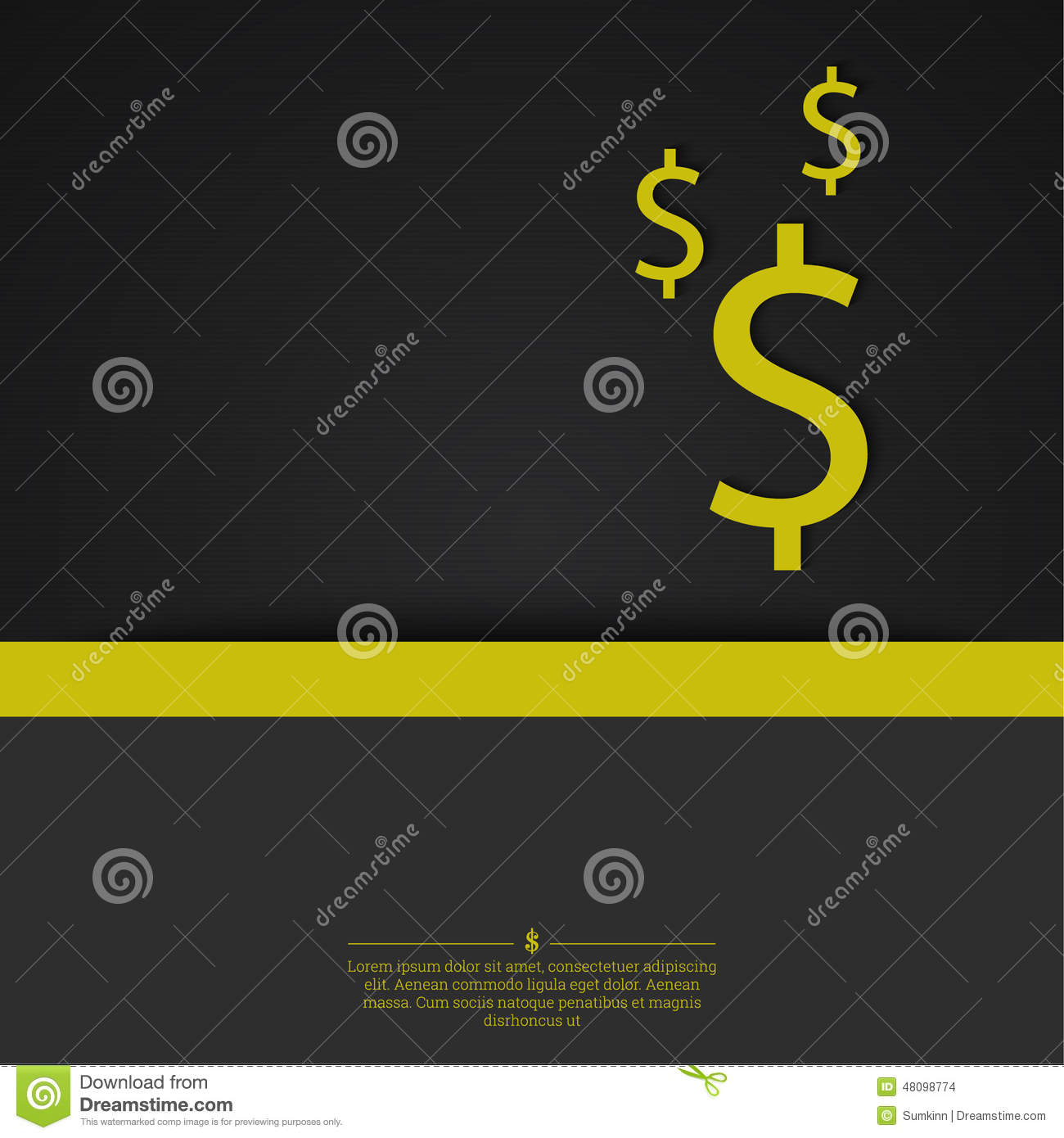 Abstract Background With A Dollar Sign. Illustration 48098774 - Megapixl
