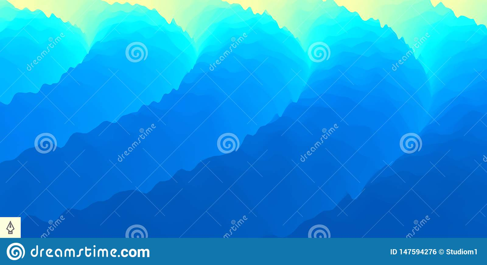 Abstract background with dynamic effect. Motion vector Illustration. Trendy gradients. Can be used for advertising, marketing,