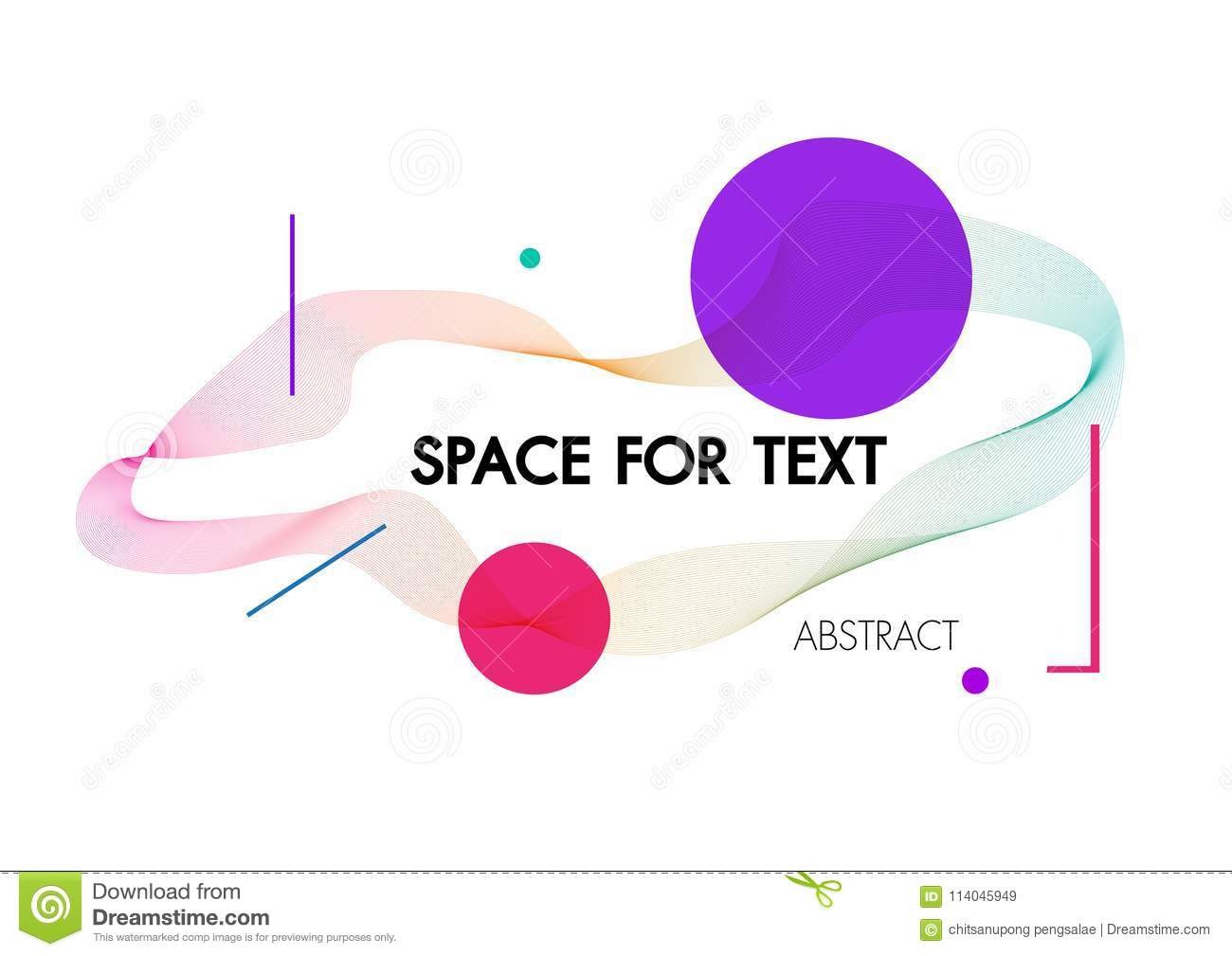 Abstract background with dynamic linear waves.For space text colorful Vector illustration