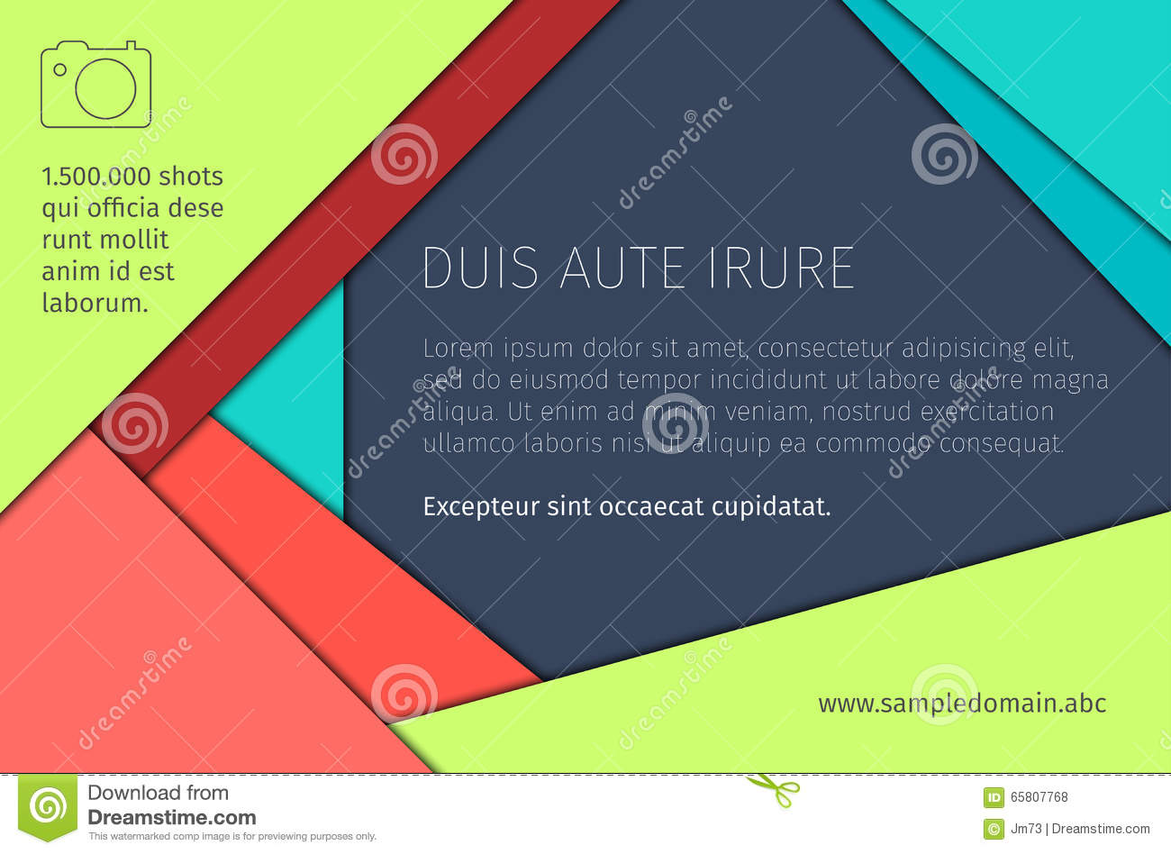 Abstract background in flat material design stock vector for Material design space