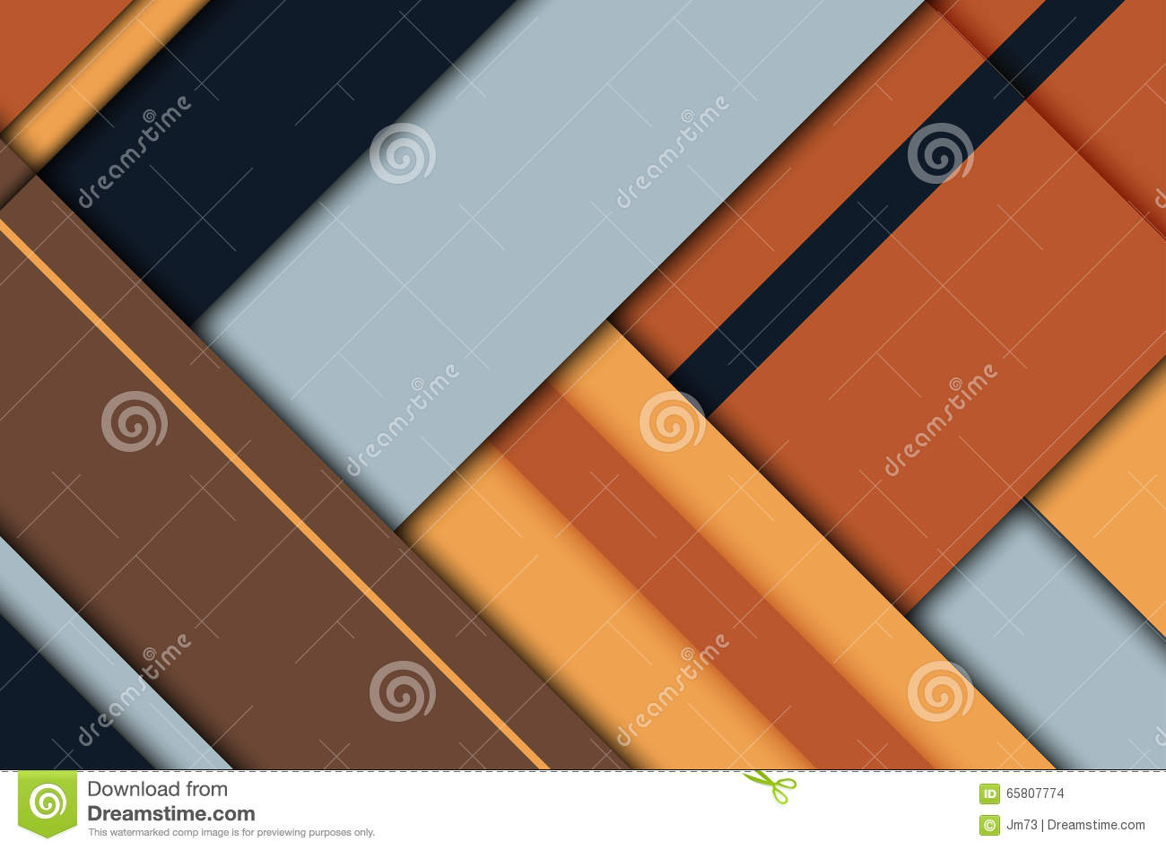 Abstract background in flat material design for Space material design