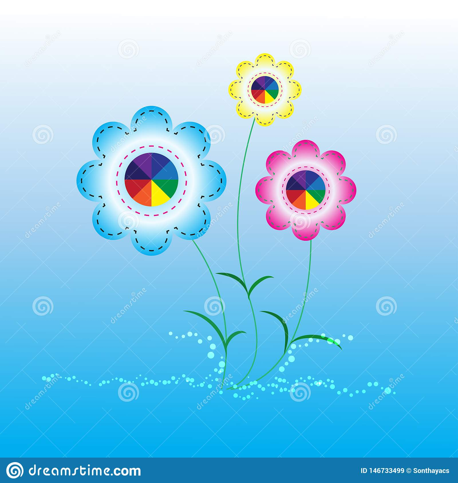 Abstract background flower