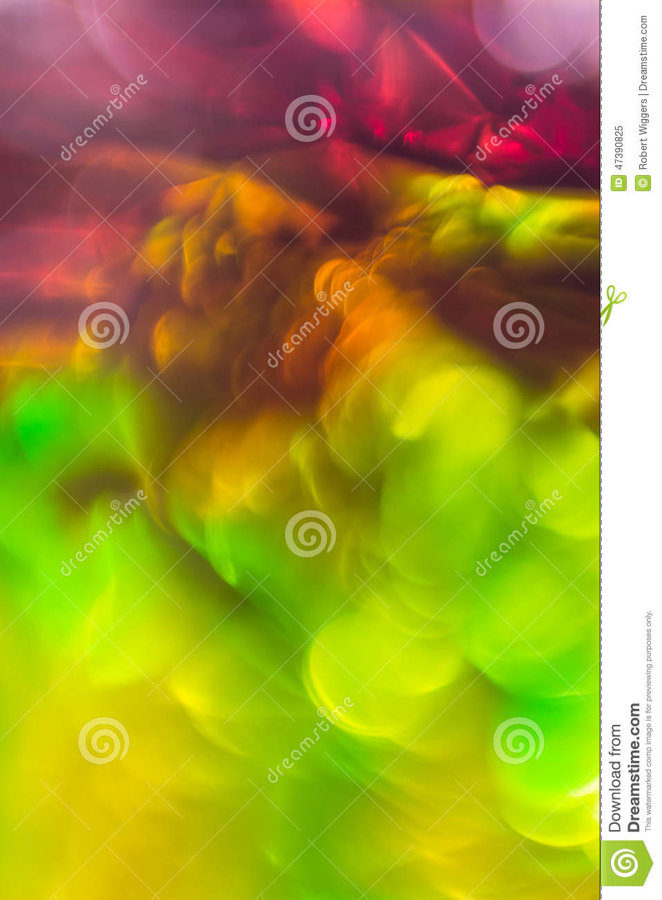 Abstract Background Flowing Color Over Tin Foil Stock