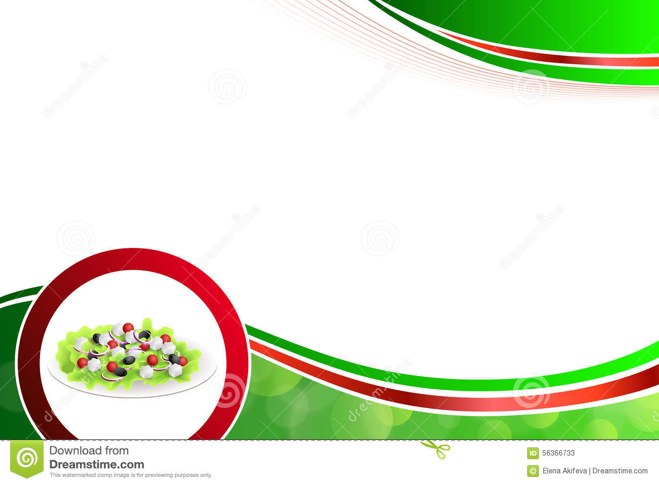 Red Onion Illustration black olives onion red