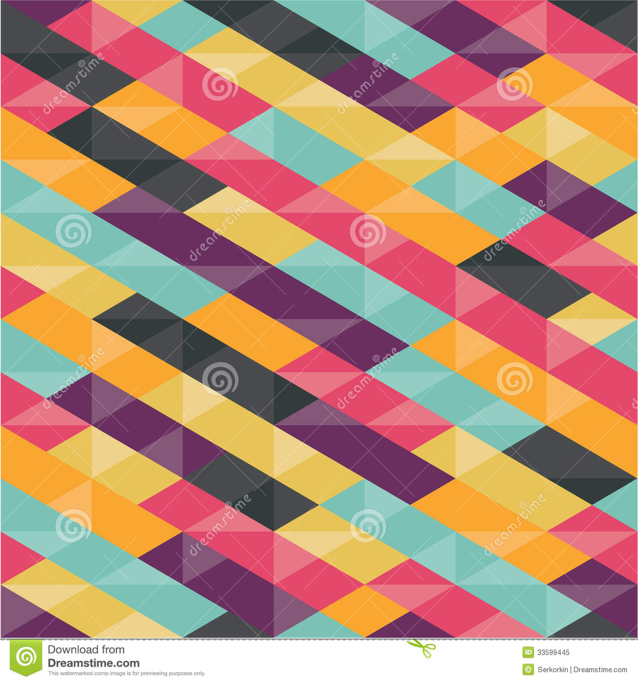 Abstract Background Geometric Seamless Pattern Royalty