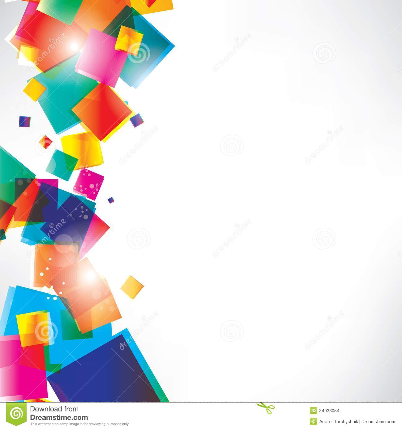 File Decoration Designs: Abstract Background With Geometric Shapes Stock Vector