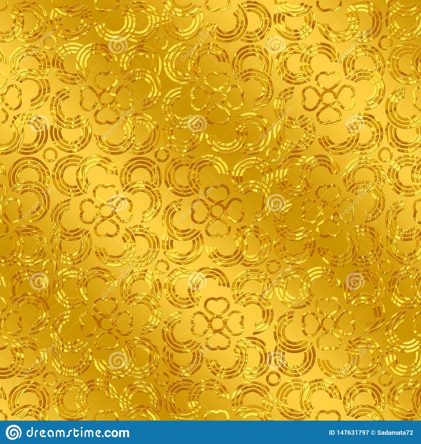 Abstract Background Golden Color Summer Design Seamless