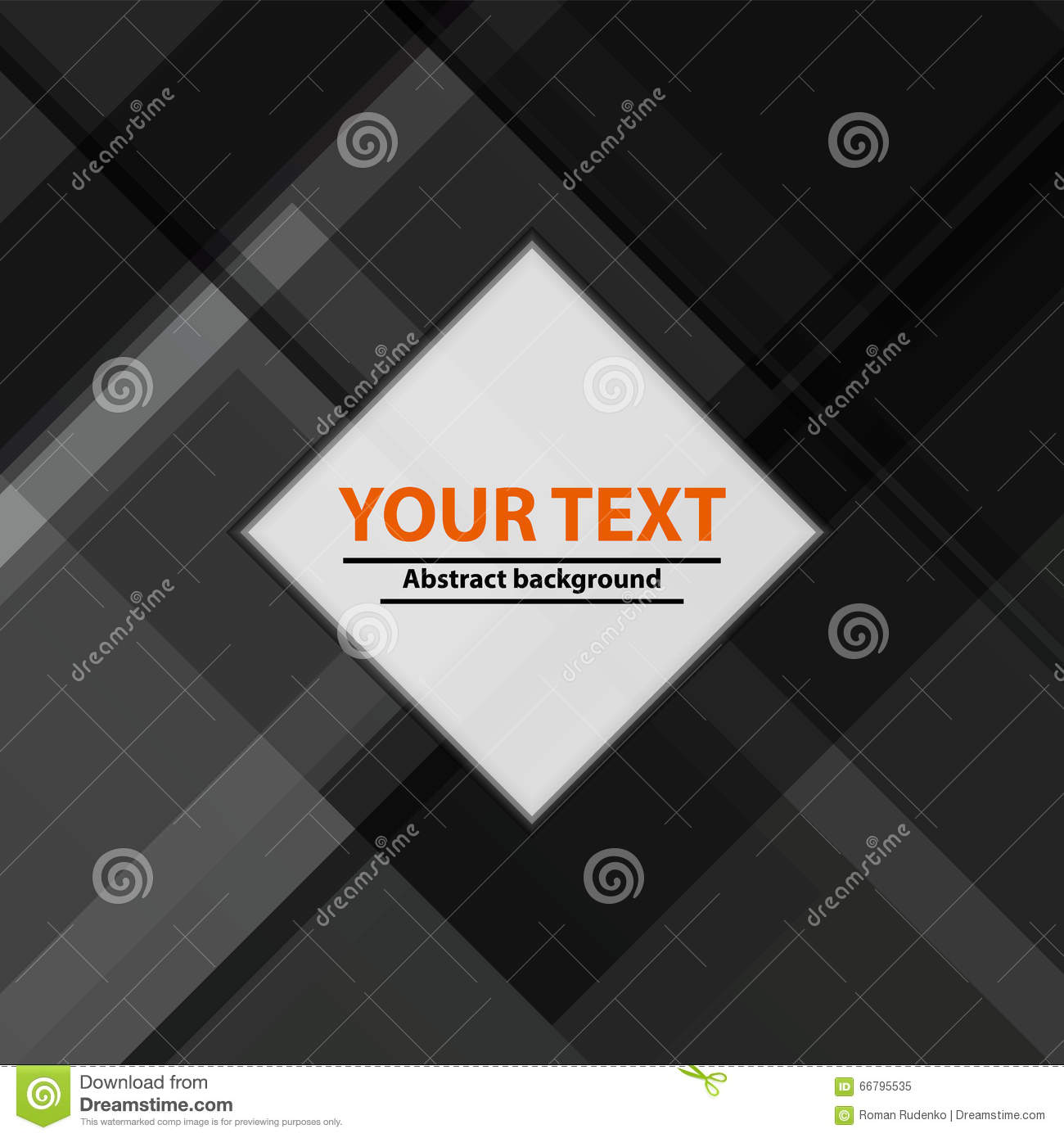 Abstract Background In Grayscale. Vector Template Or Cover With ...