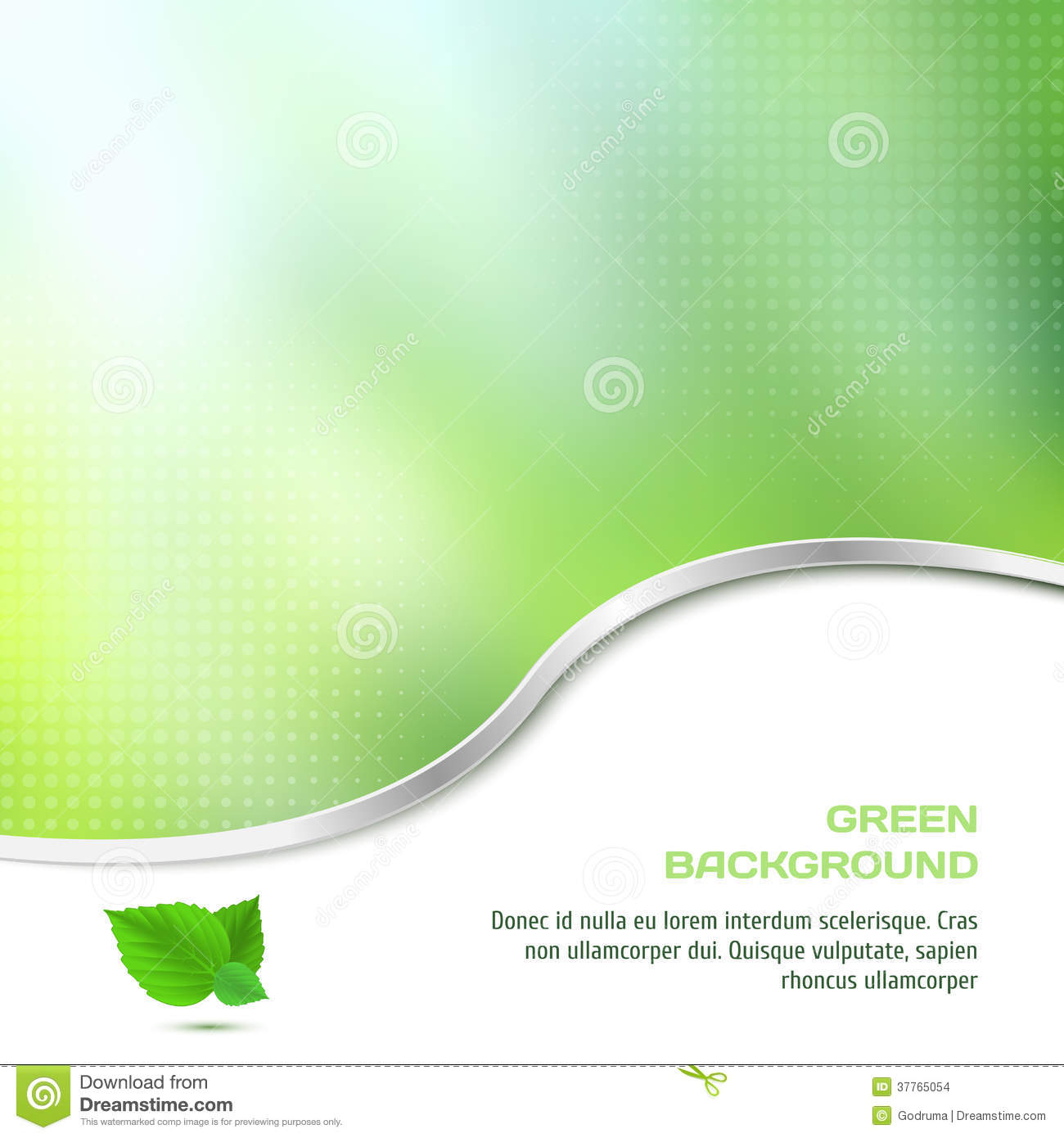 Abstract Background In Green Color With Halftone Stock
