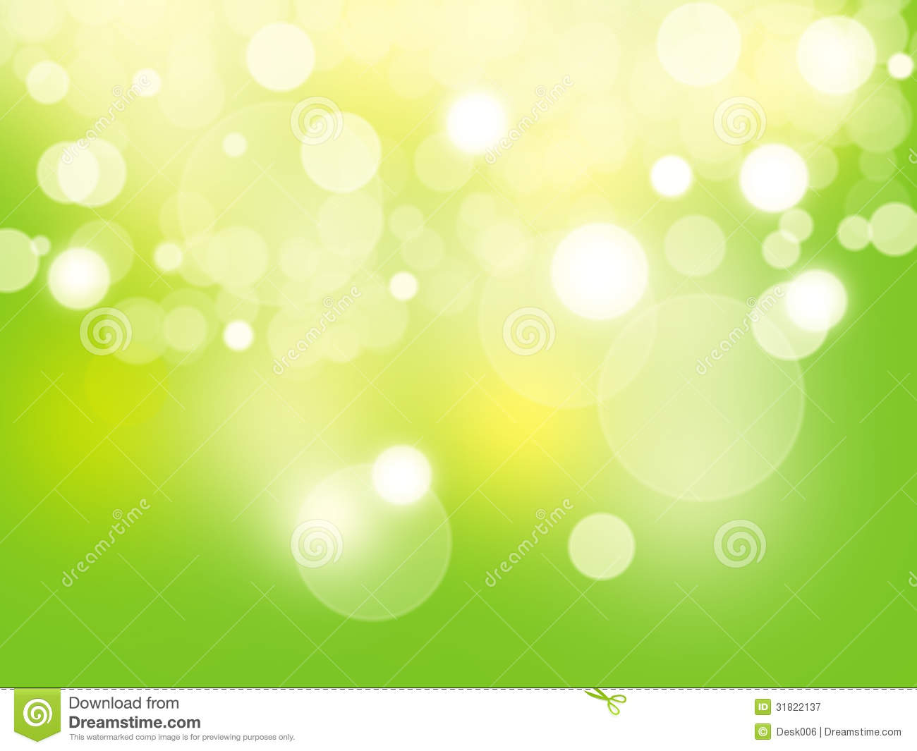 Abstract Background Green And Fresh Bokeh