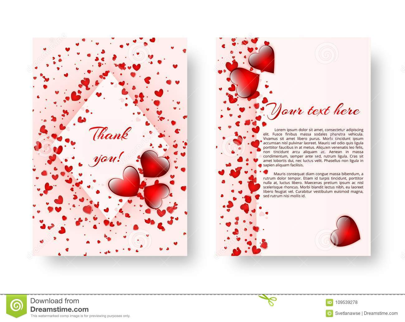 Festive Booklet With St Valentines Day Stock Vector Illustration
