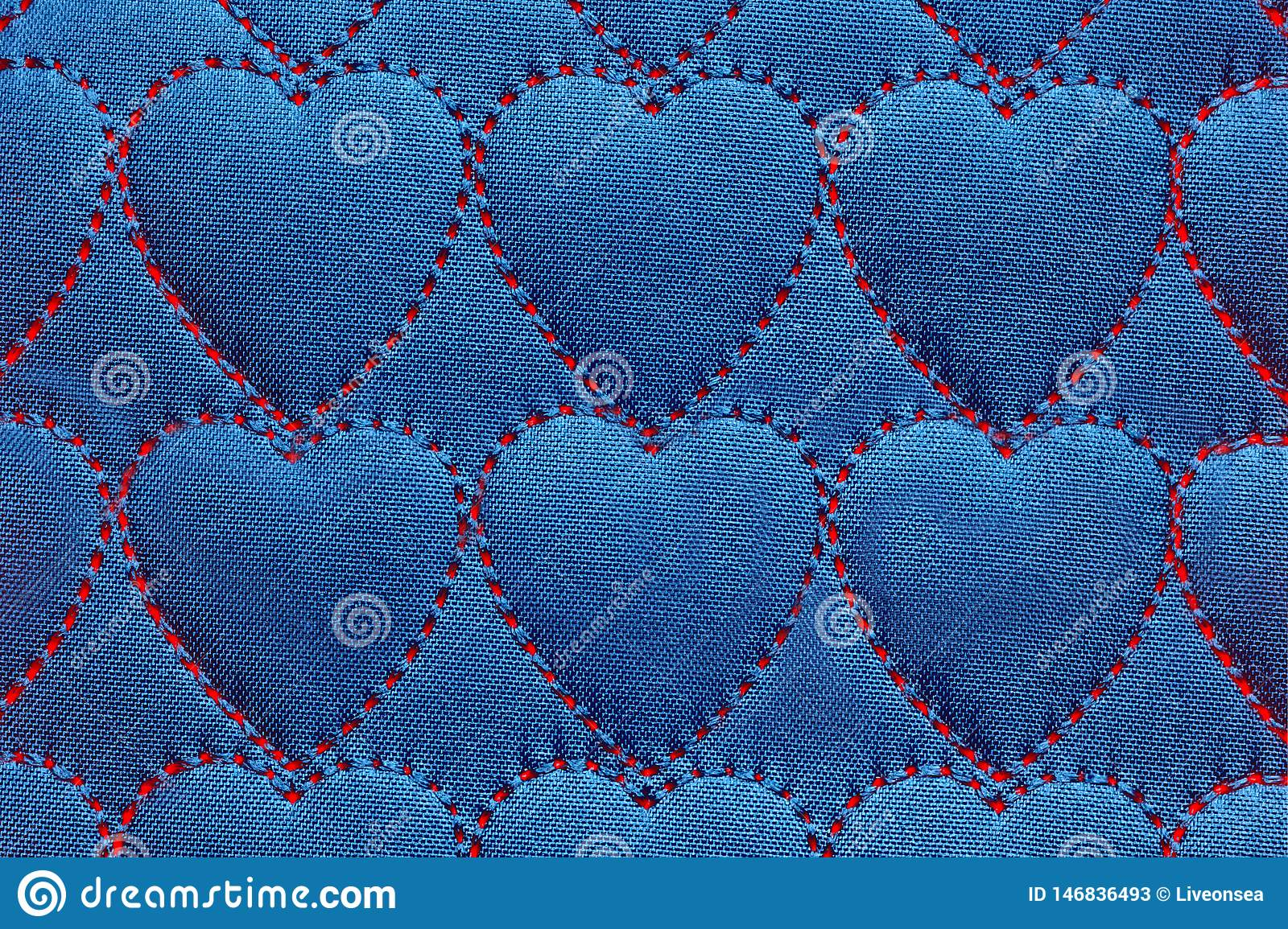 Abstract Background Heart On Textiles, Red Threads ...