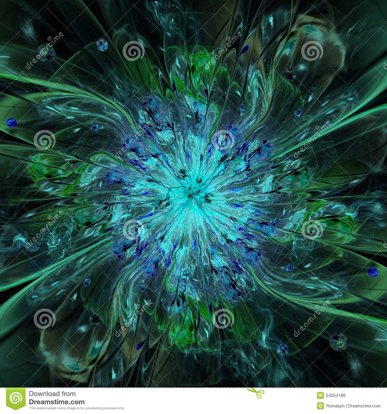 Abstract High Resolution Wallpaper With A Detailed Modern Exotic Looking Shining Flower In The Center And Decorative Pattern Beams