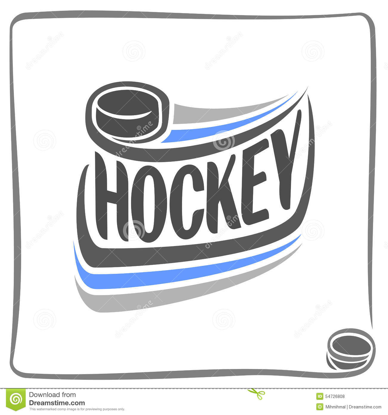 Abstract Background On The Hockey Theme