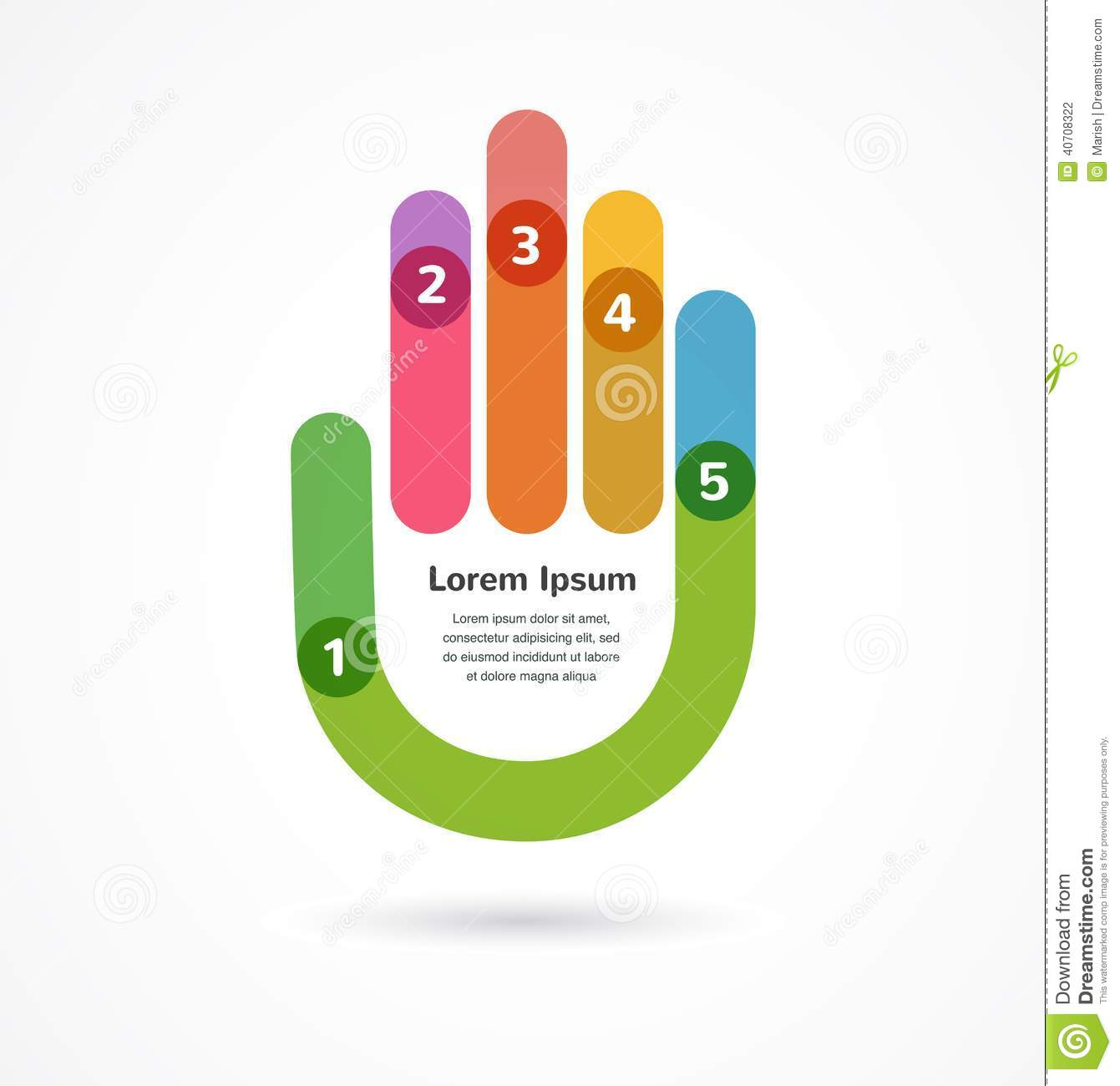 Abstract Background Infographic With Hand Stock Vector ...