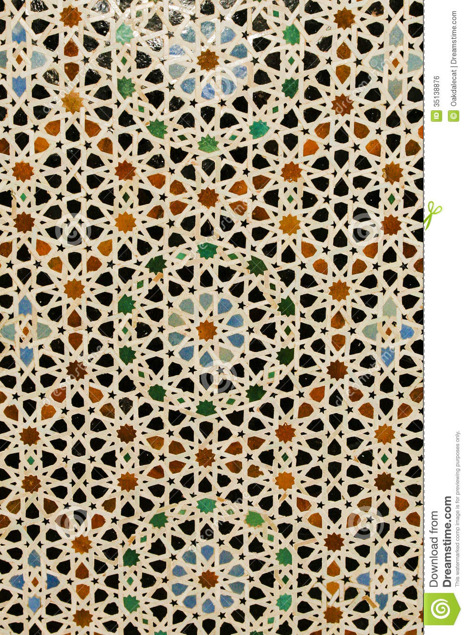 Abstract Background Colorful Azulejo Moroccan Tile