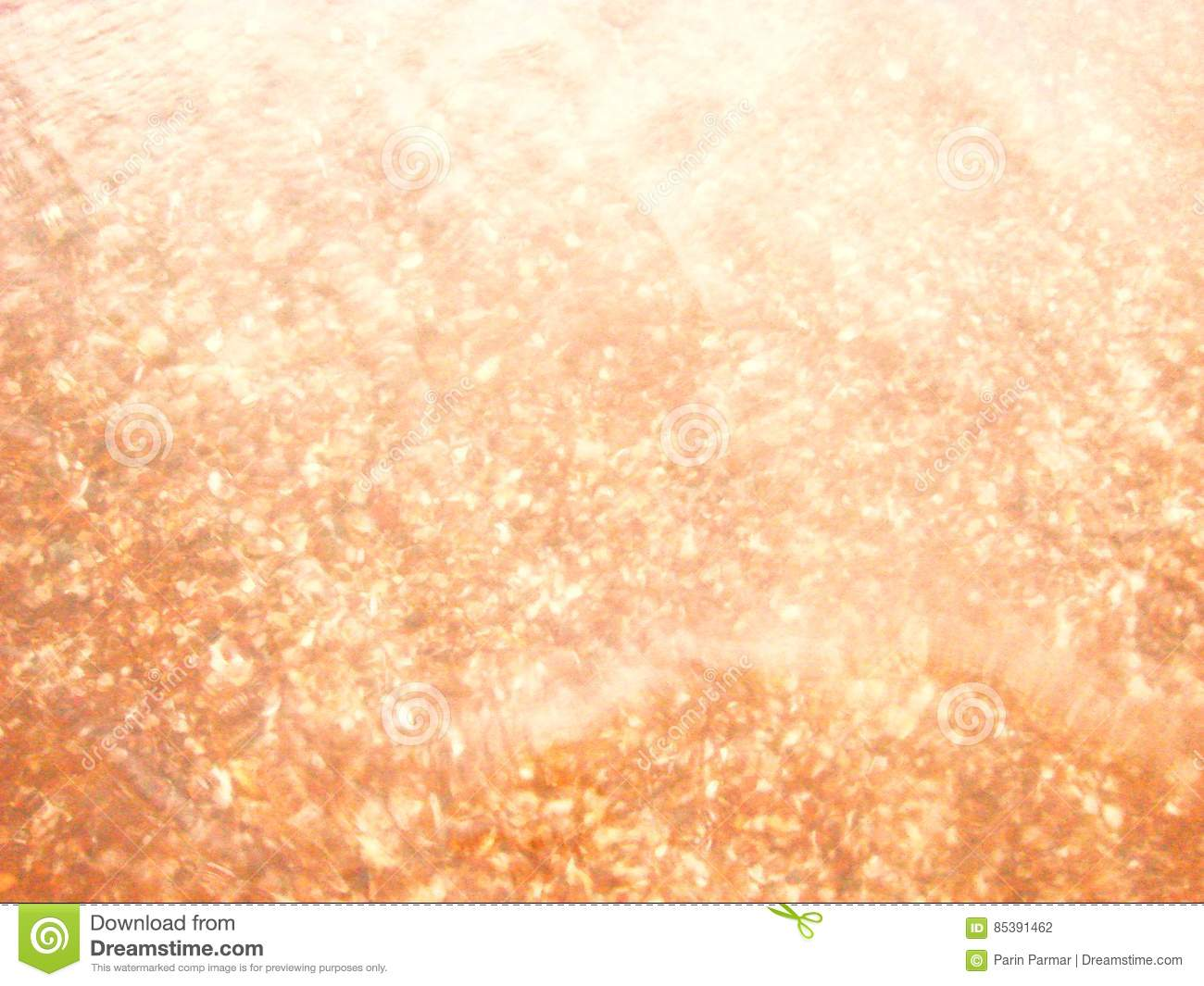 Abstract Background - Light Reflections in Water with Underwater Shells