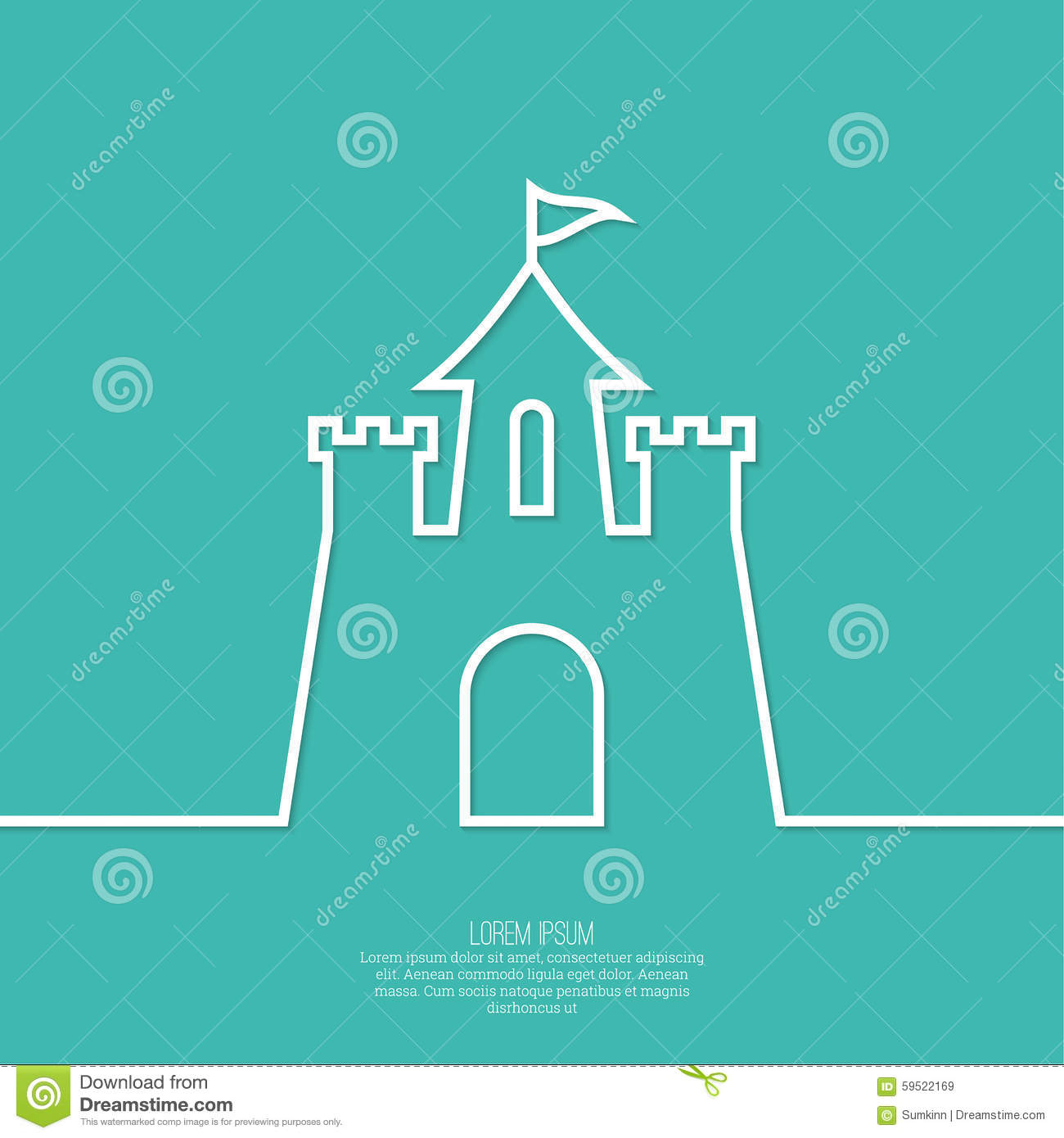Abstract Background With A Medieval Fortress Stock Vector ...