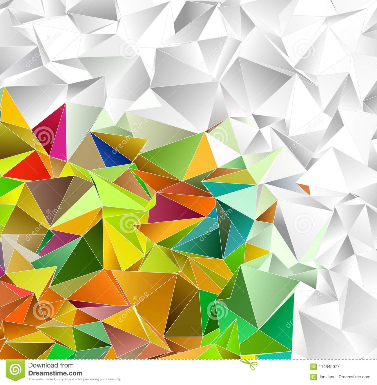 Abstract Background  Mosaic Triangulated Texture Stock