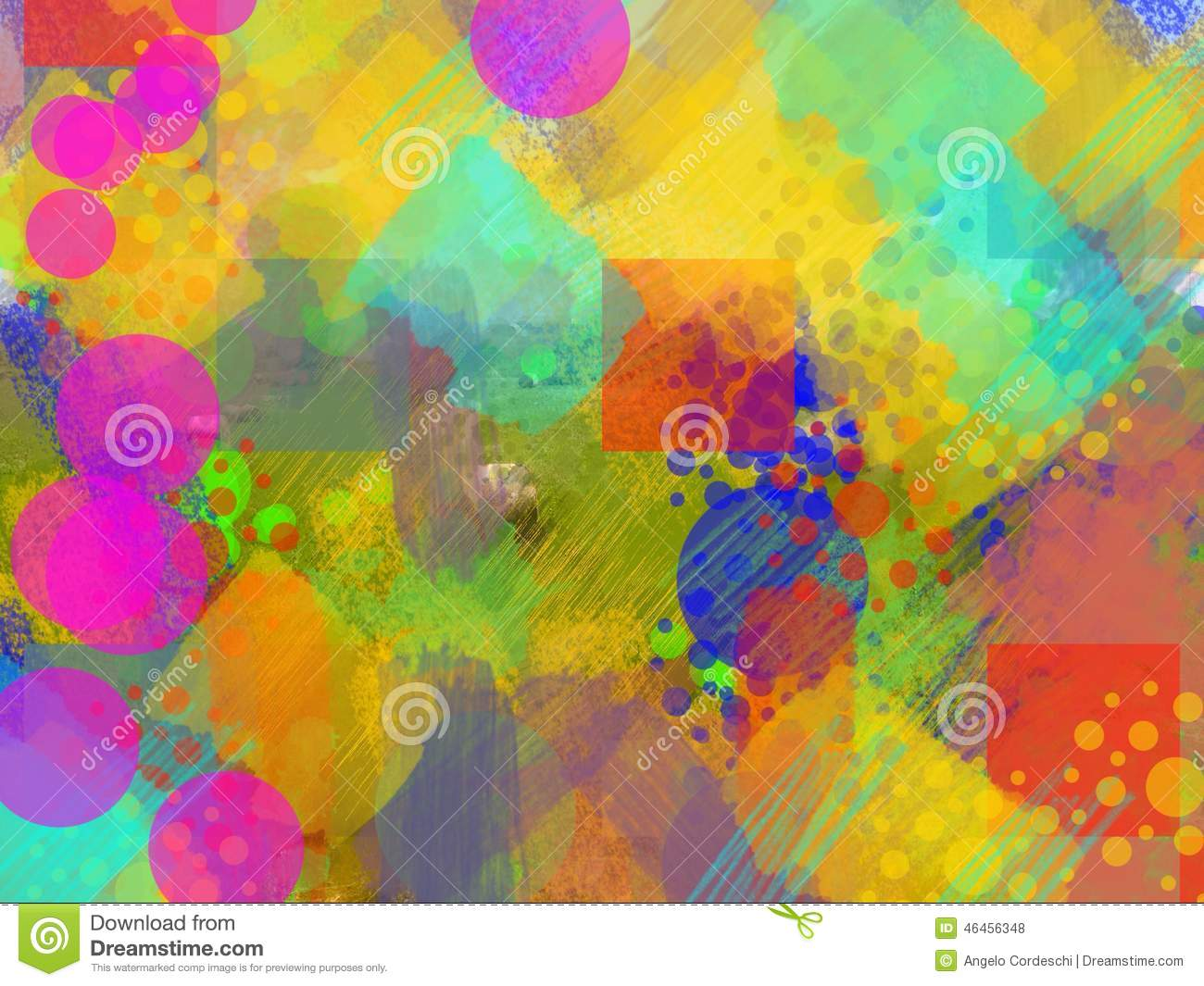 Abstract Background Multi-colored Stock Illustration ...