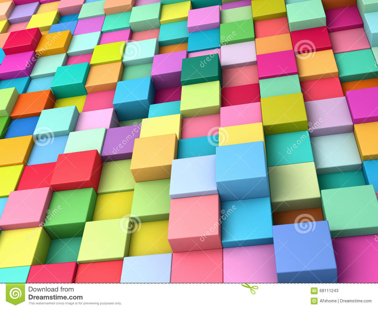 Abstract Background Of Multi-colored Cubes Stock ...