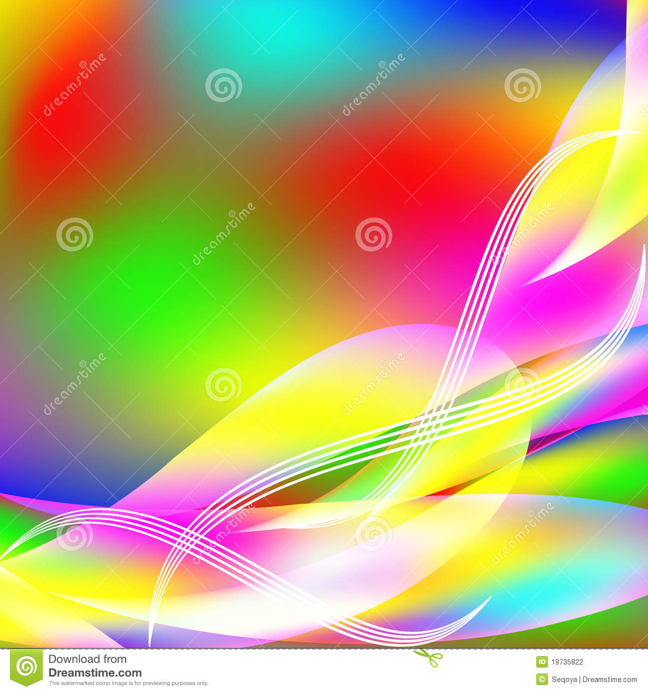 Abstract Background From Multi-colored Molecules Stock ...