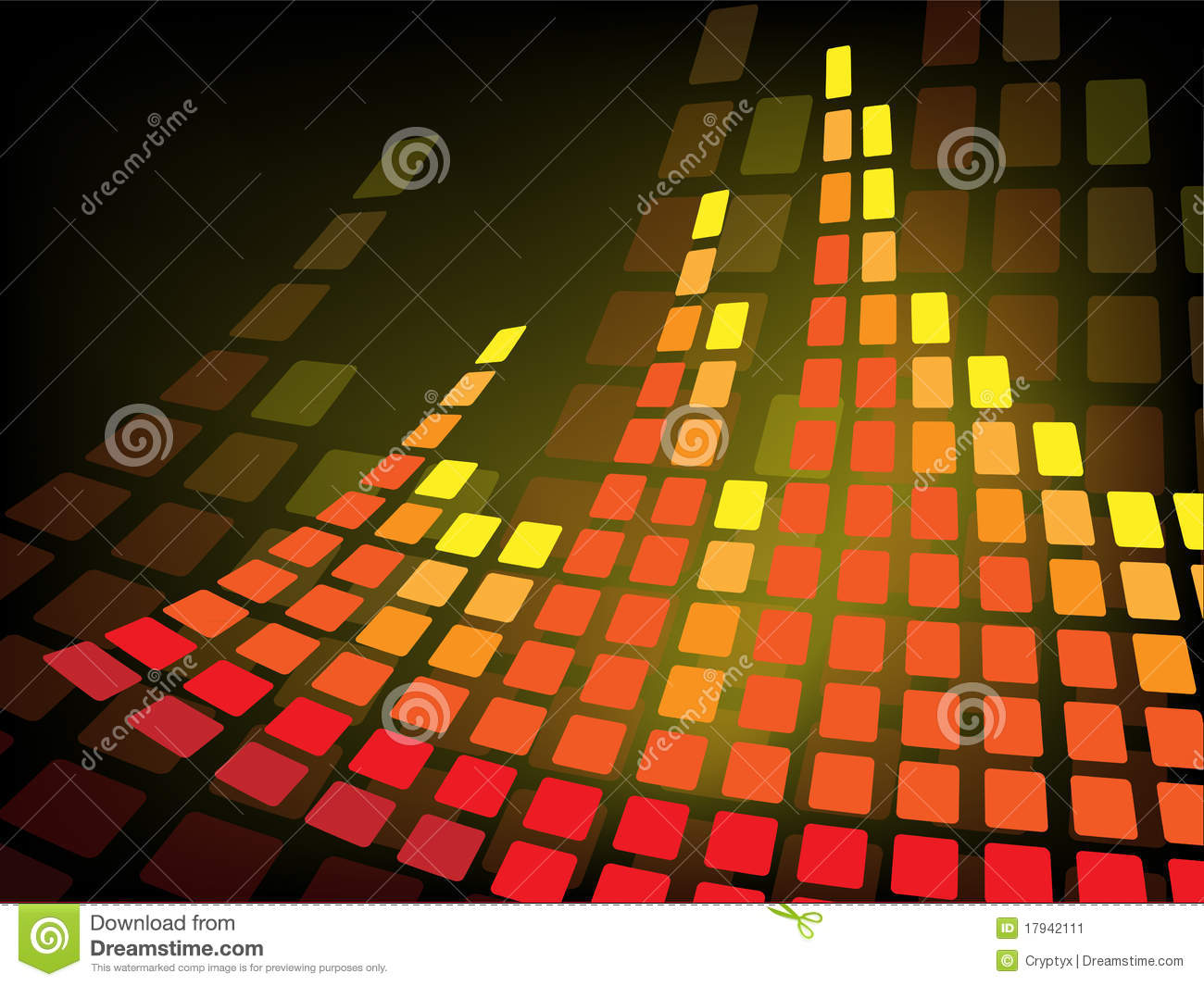 Music Bars Wallpaper: Abstract Background With Music Bar Stock Illustration