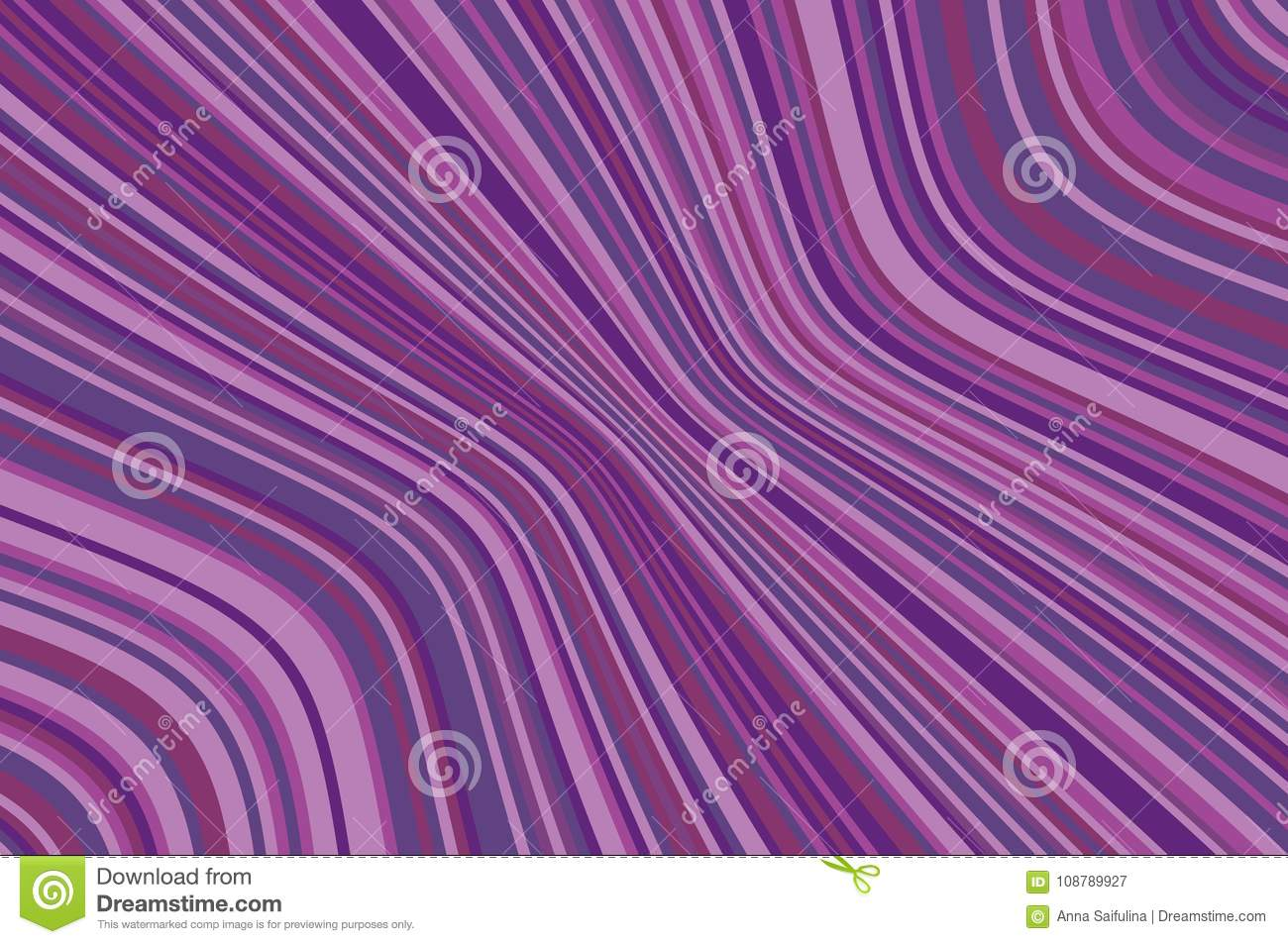 Abstract Background With Oblique Wavy Lines. Vector ...