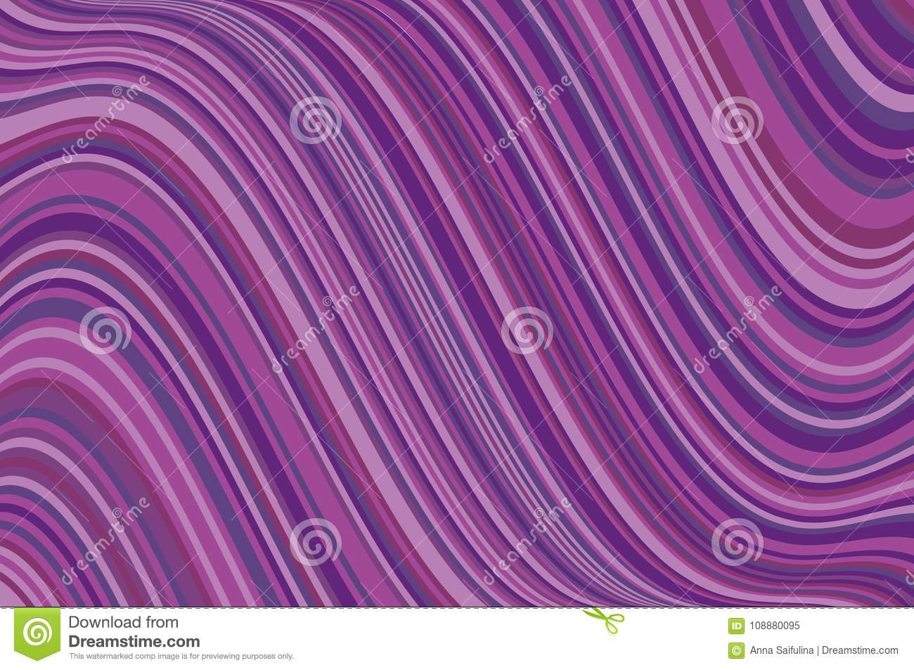 Abstract Background With Oblique Wavy Lines Vector Illustration Different Shades Of Purple Violet Color Stock Vector Illustration Of Graphic Chrome 108880095