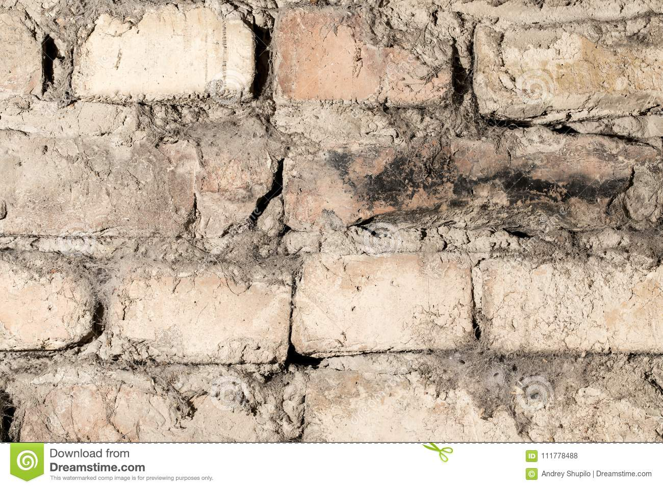 Abstract background old brick wall