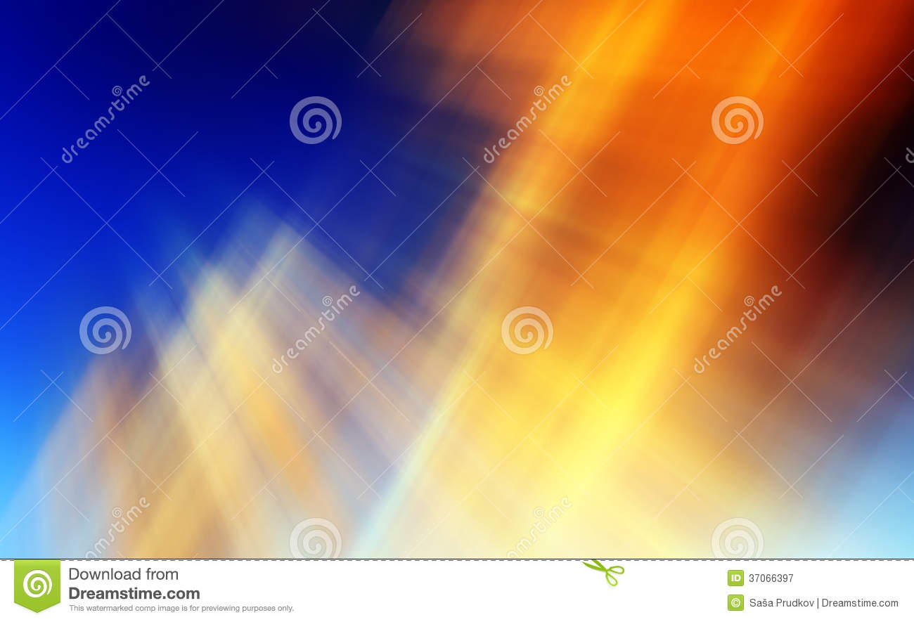 Abstract background in orange, blue and yellow