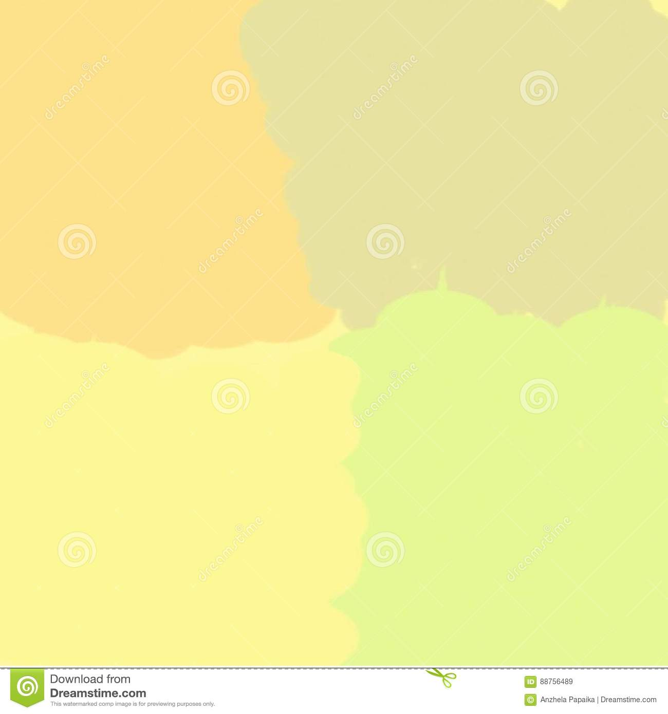 Abstract Background Of Paint Spots Yellow And Green And Brown Light ...