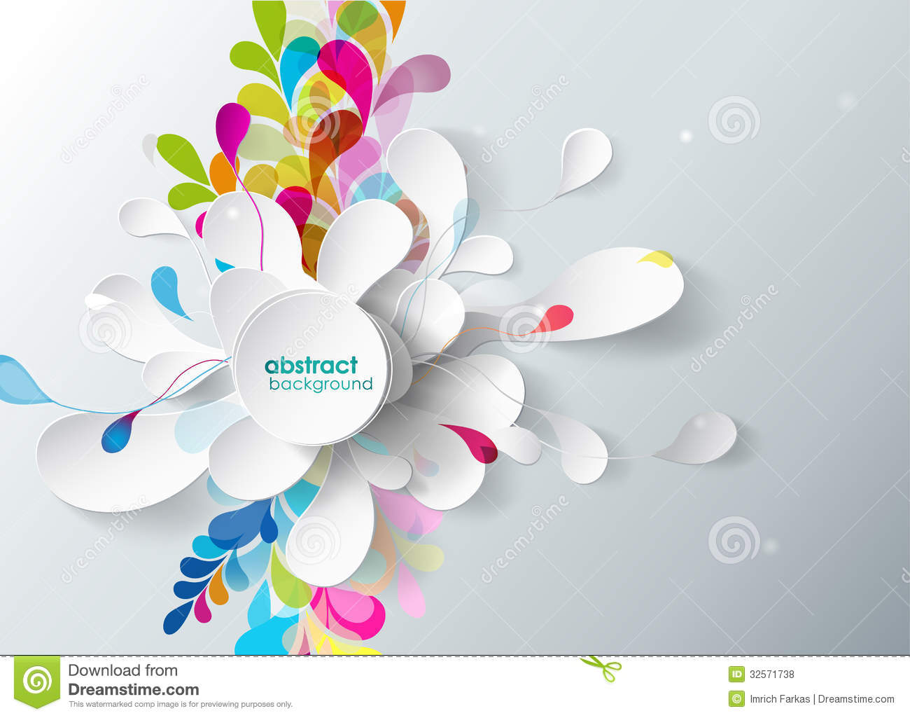 Abstract Background With Sport Icons Royalty Free Vector: Abstract Background With Paper Flower. Stock Vector