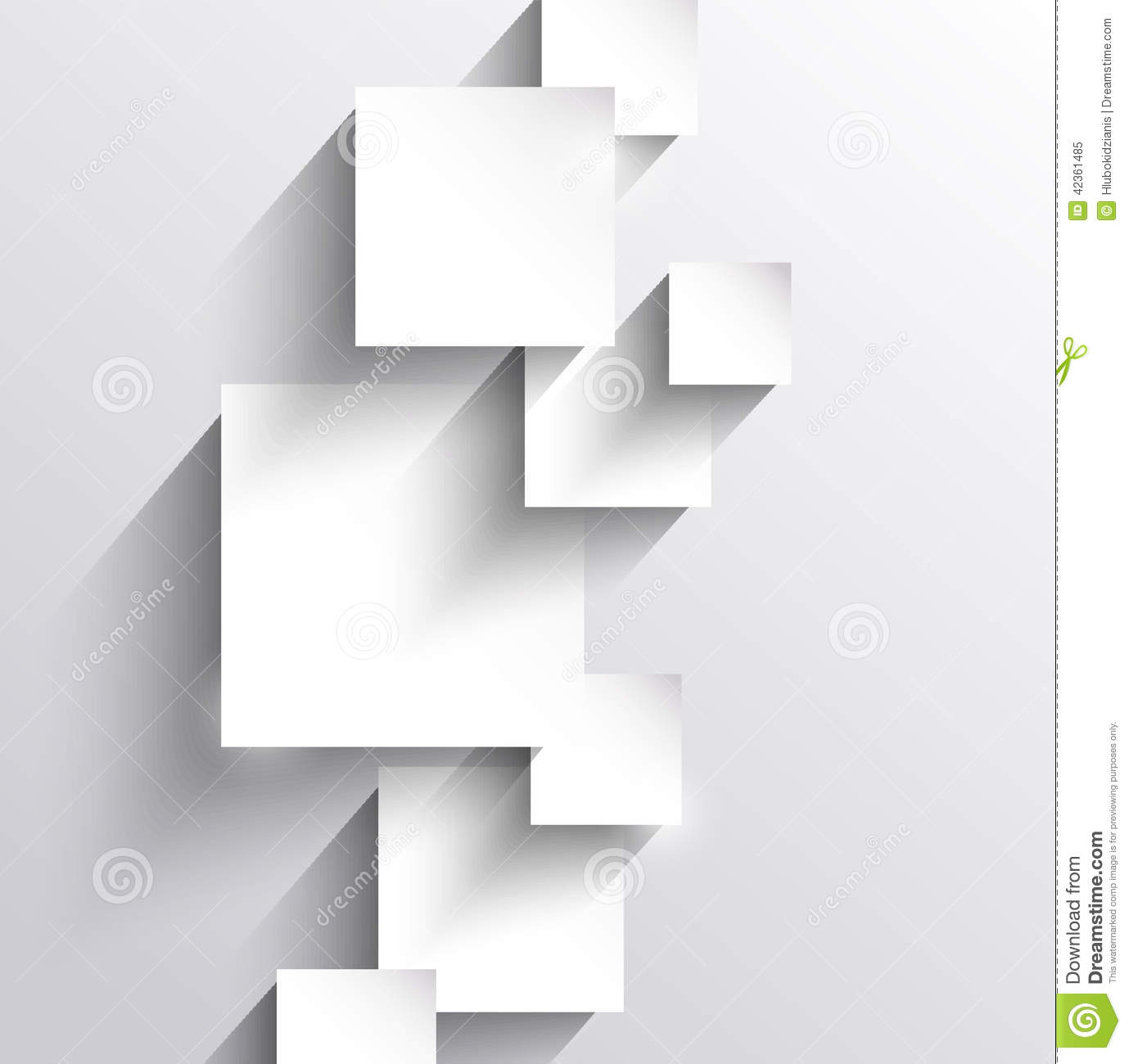 Abstract Background With Paper Squares Stock Vector