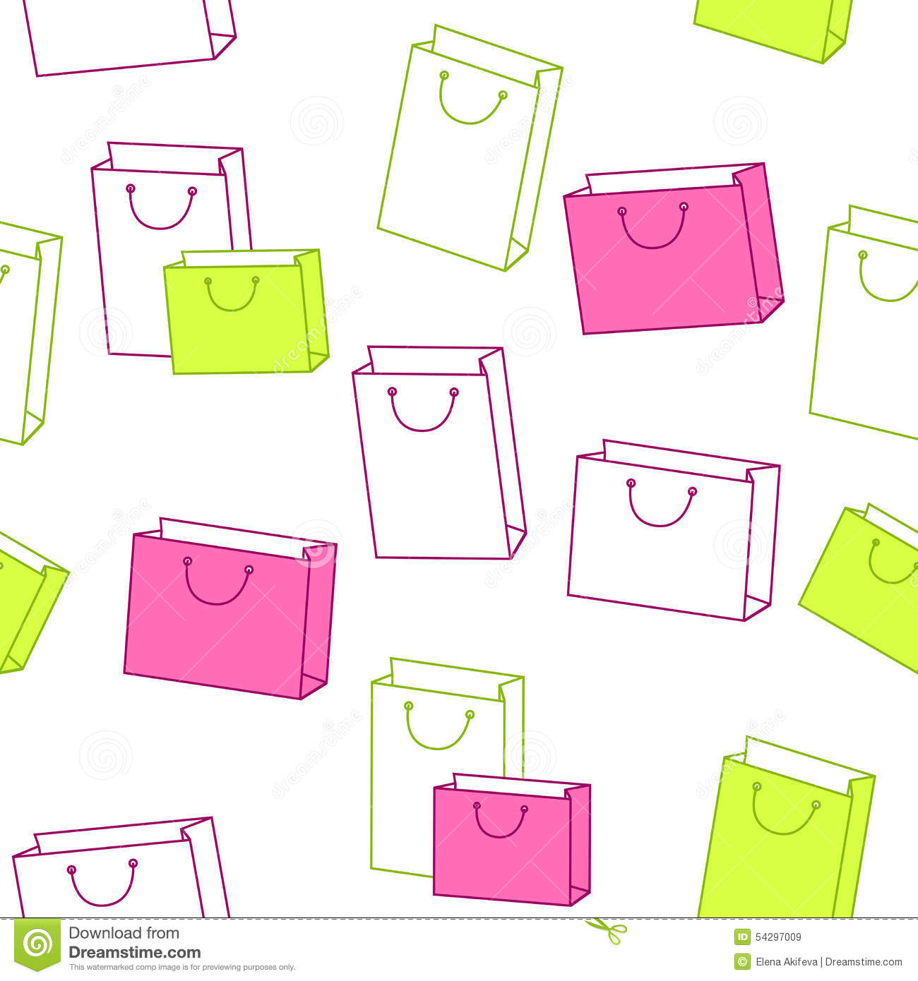 Abstract Background Pattern Paper Shopping Bag Pink Green Seamless ...