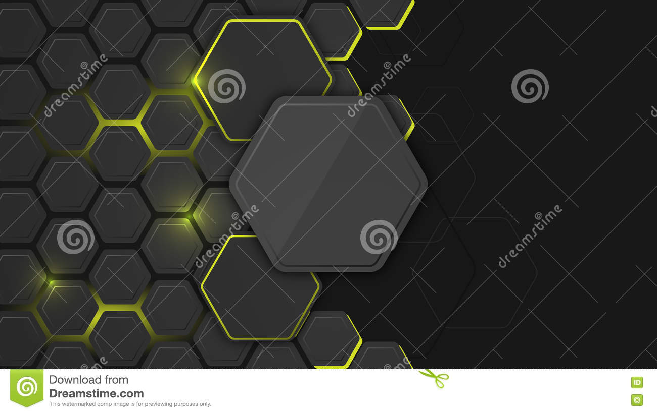 Abstract Background Or Pc Desktop Wallpaper With Hexagonal