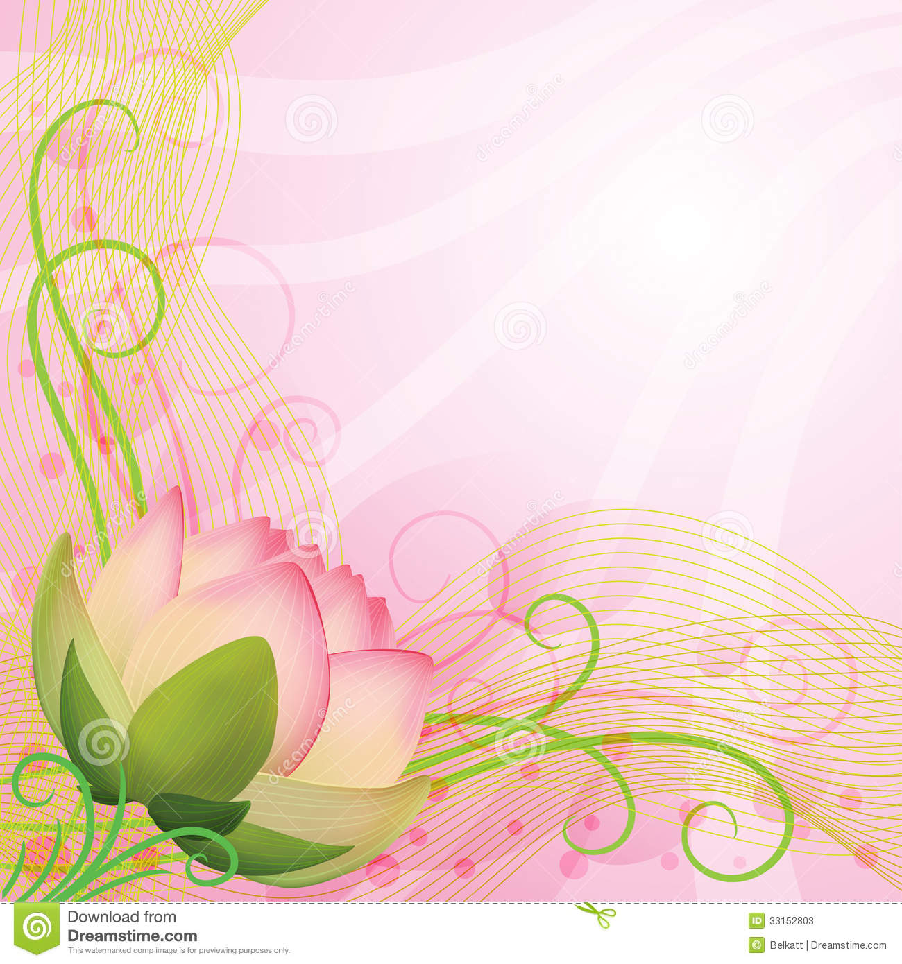 Abstract Background Pink Lotus Flower Stock Photos - Image: 33152803